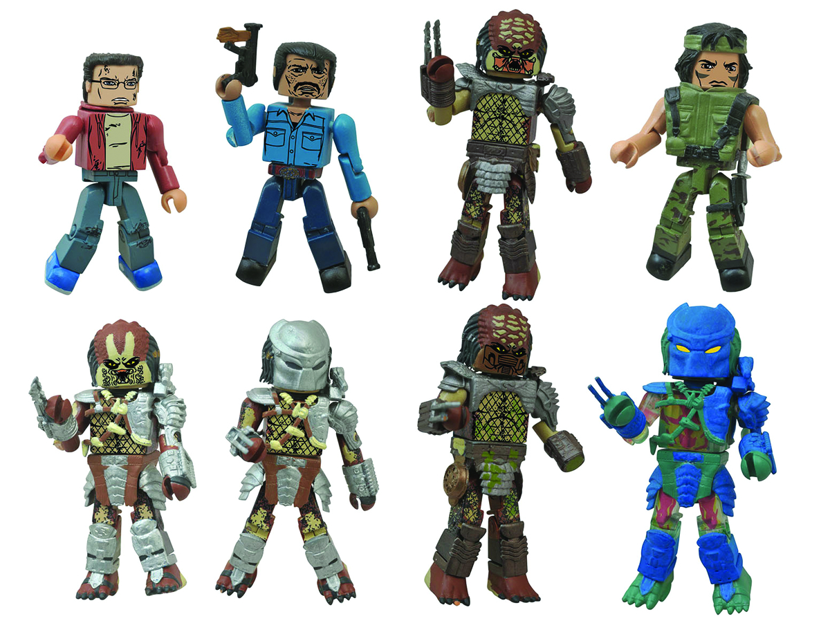 PREDATOR MINIMATES SER 1 FOIL BMB COUNTER DISPLAY