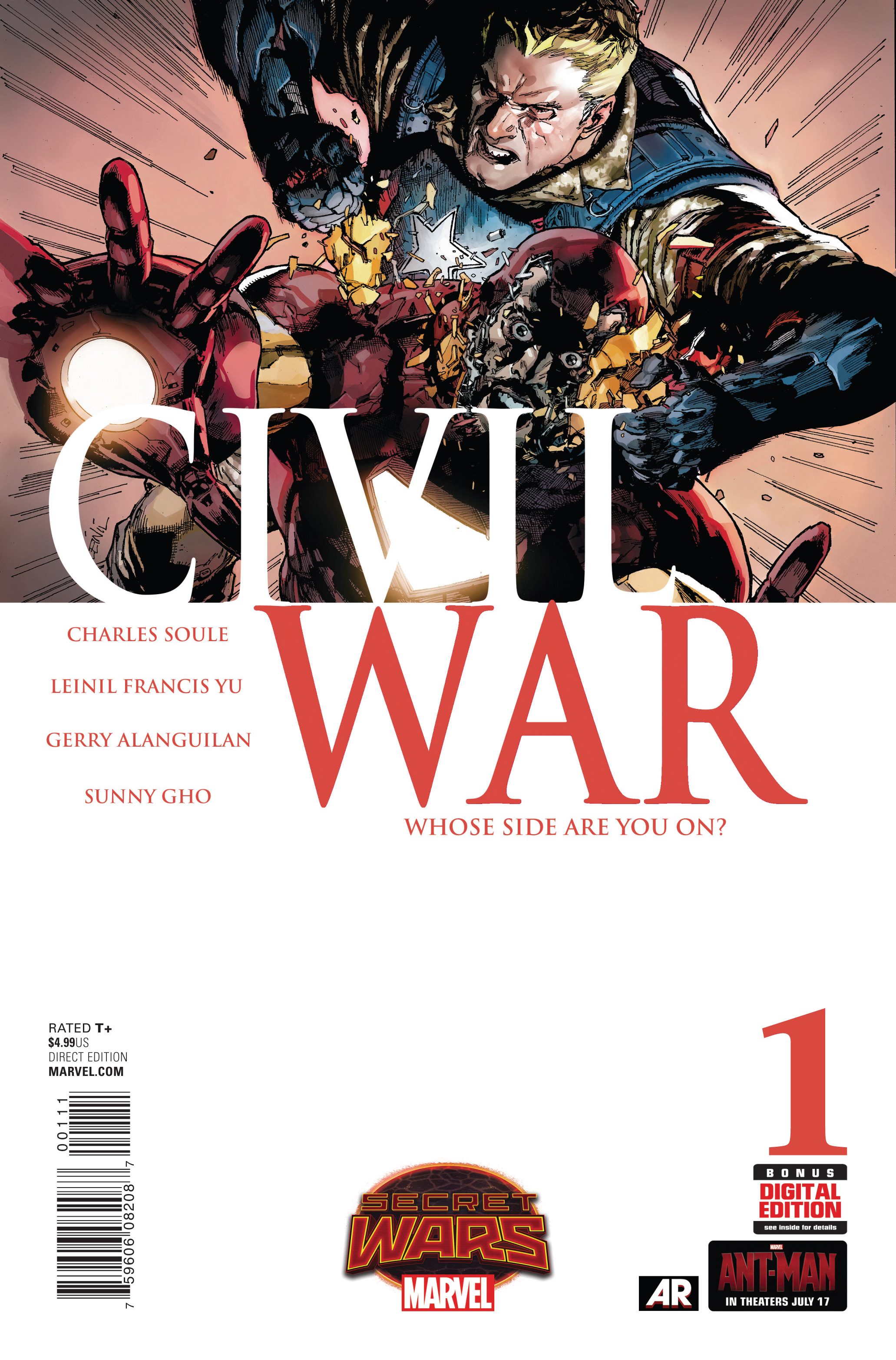 CIVIL WAR #1 SWA