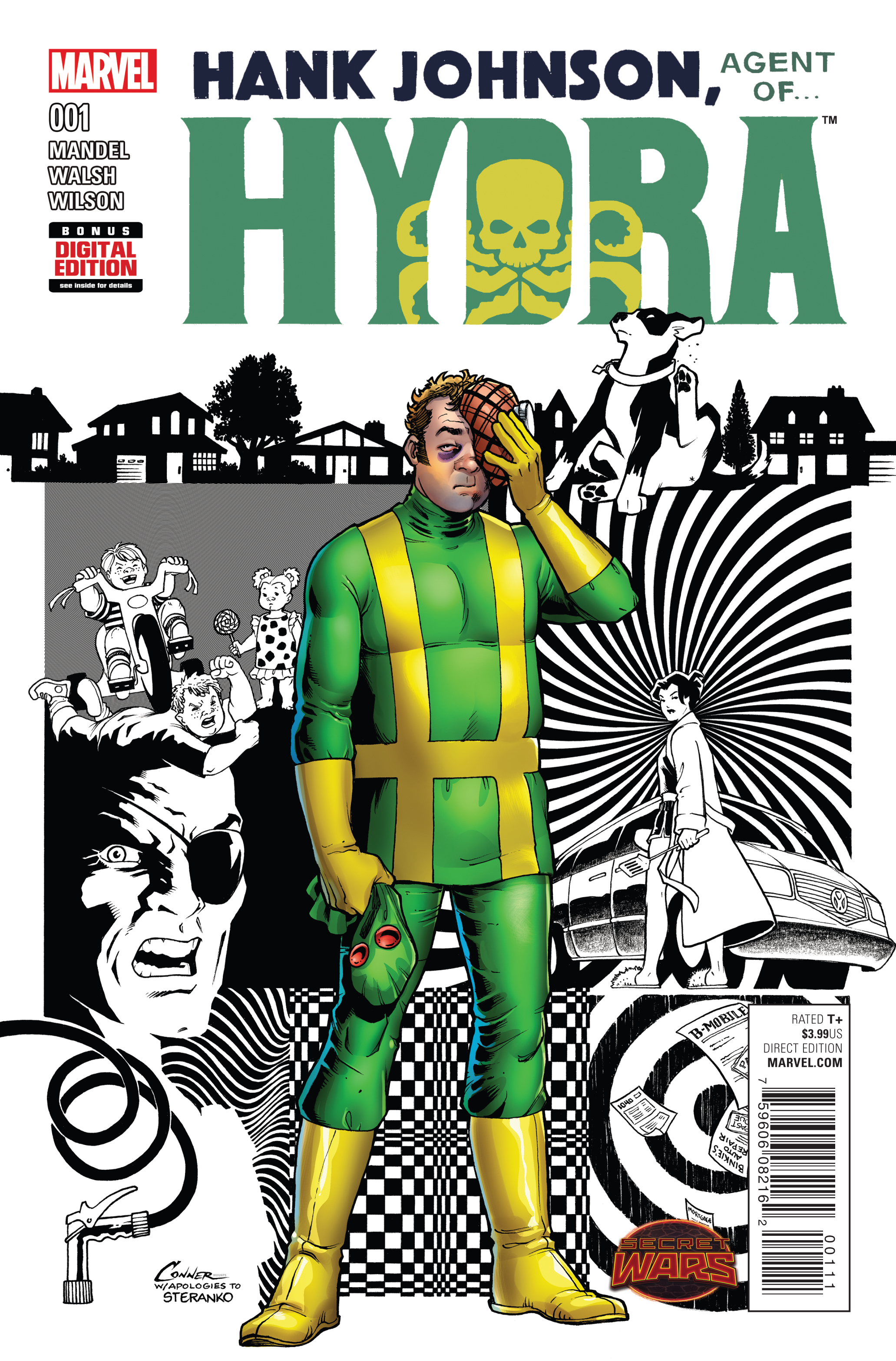 HANK JOHNSON AGENT OF HYDRA #1 SWA