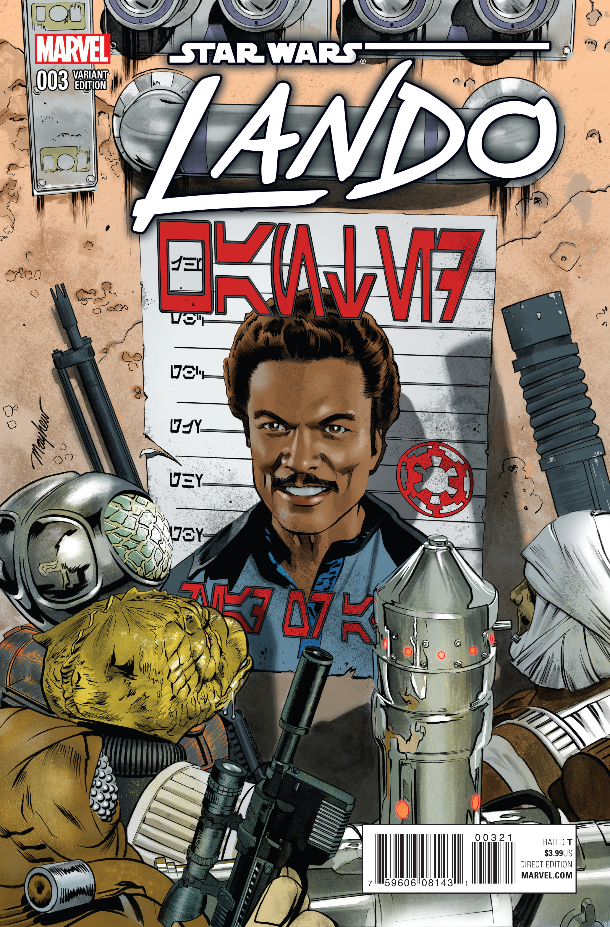 STAR WARS LANDO #3 (OF 5) MAYHEW VAR