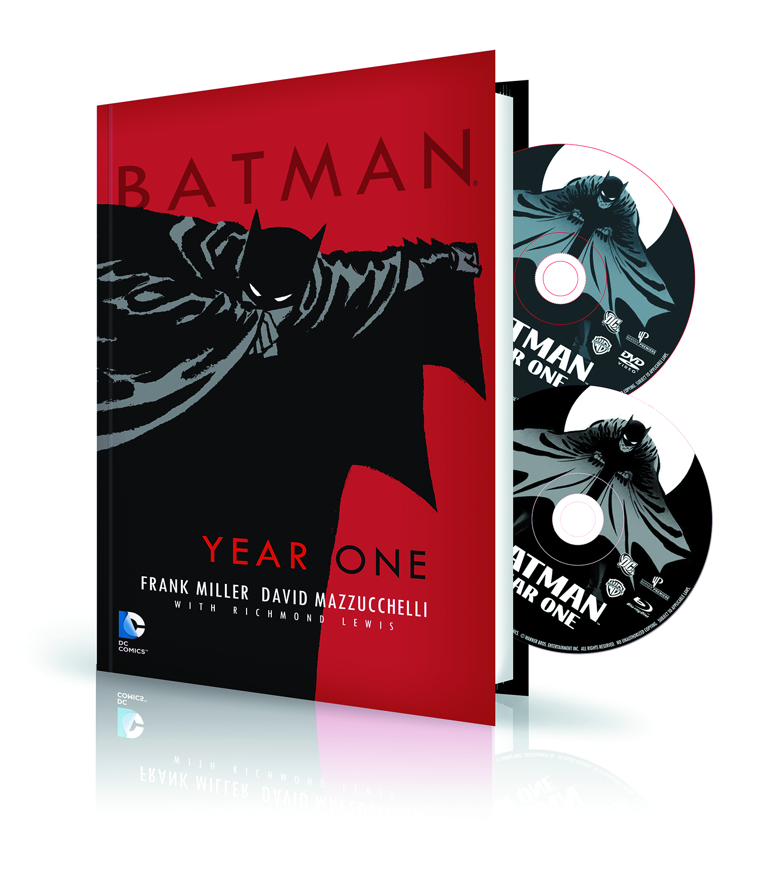 BATMAN YEAR ONE HC BOOK & DVD BLU RAY SET
