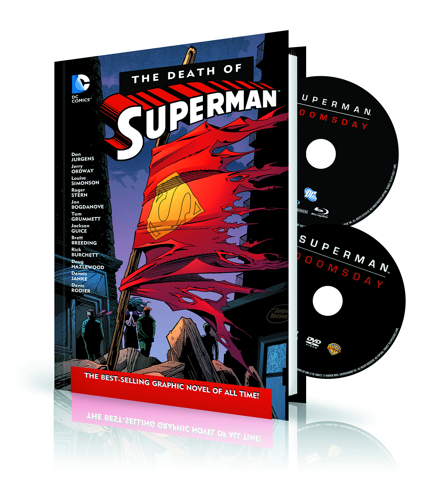 DEATH OF SUPERMAN HC DVD & BLU RAY SET