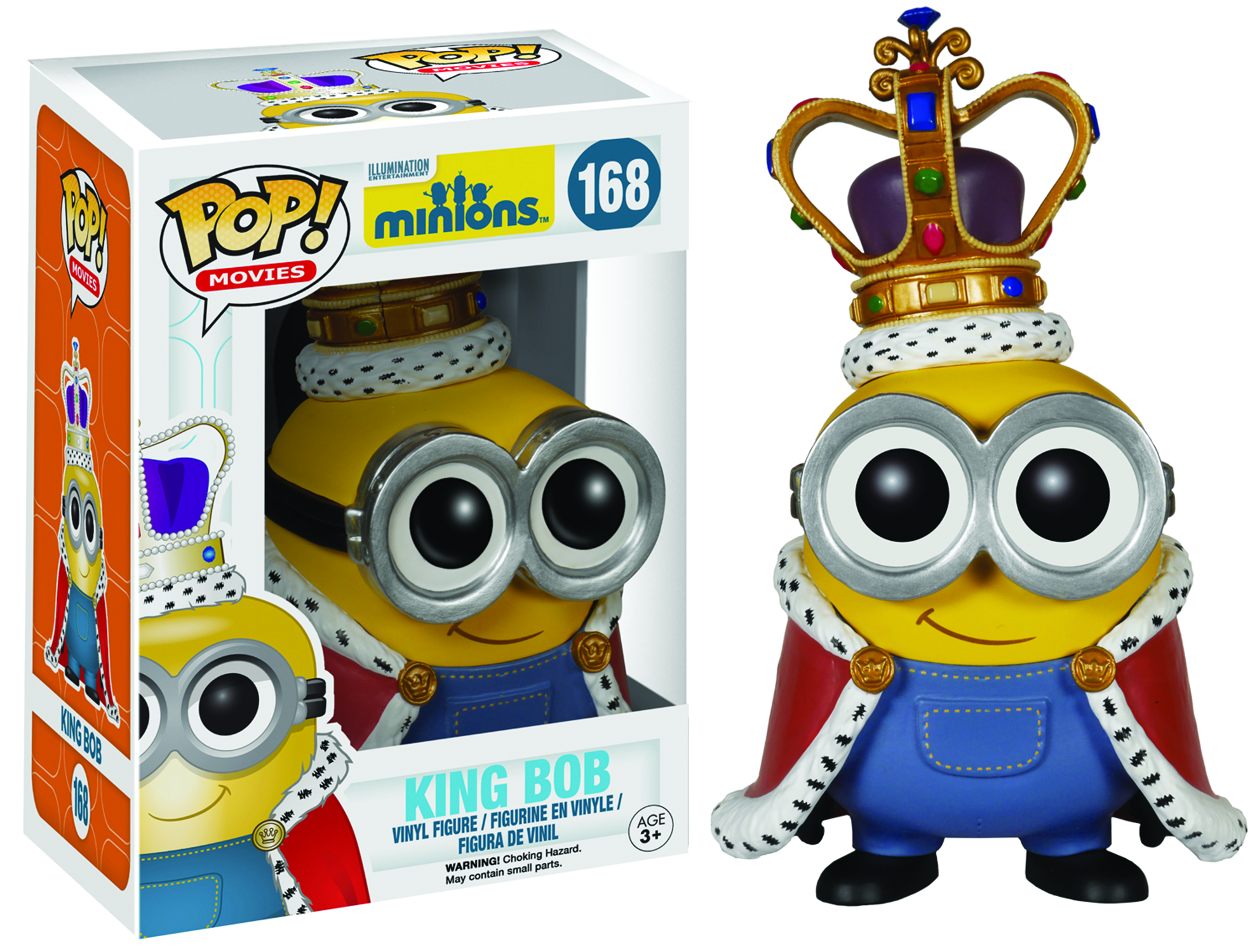 POP MINIONS KING BOB VINYL FIG