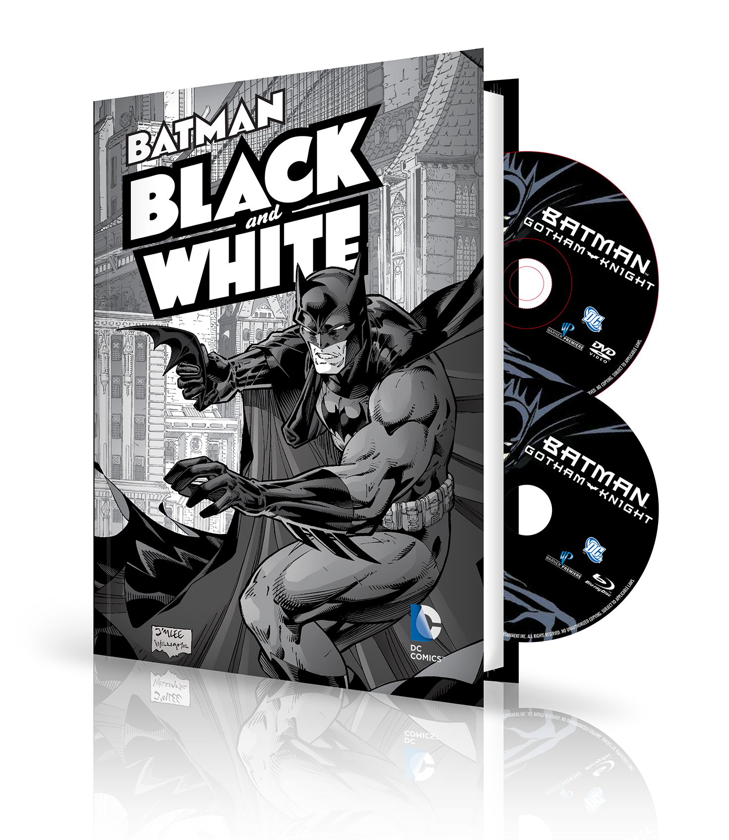 BATMAN BLACK & WHITE HC VOL 1 BOOK & DVD BLU RAY SET