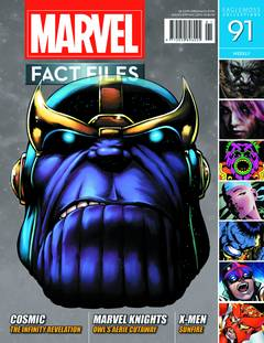 MARVEL FACT FILES #91 THANOS HEAD COVER
