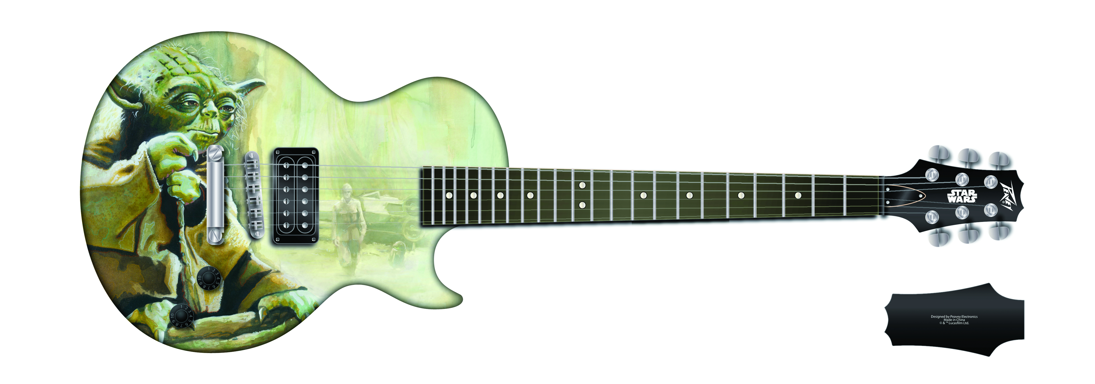 STAR WARS YODA SINGLE CUT GUITAR