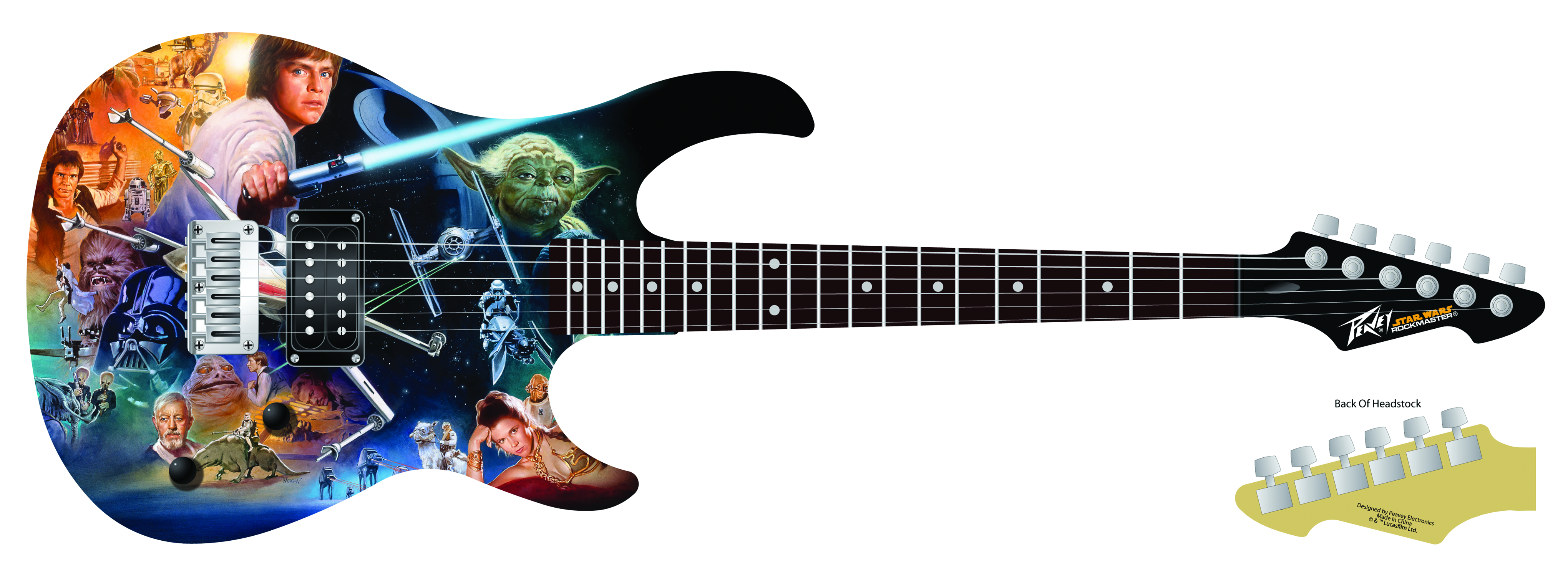 STAR WARS COLLAGE ROCKMASTER ELECTRIC GUITAR