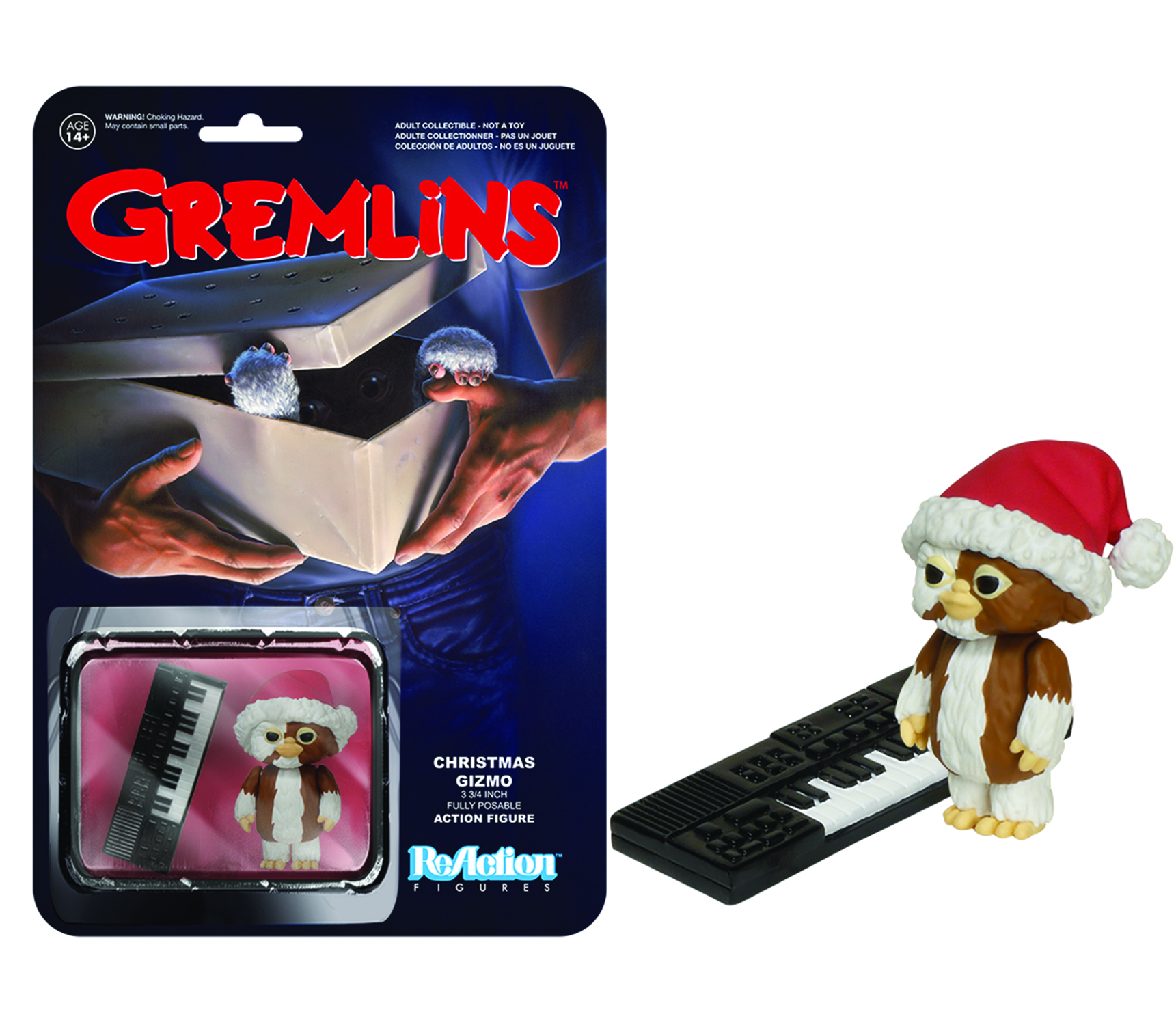 REACTION GREMLINS CHRISTMAS GIZMO FIG