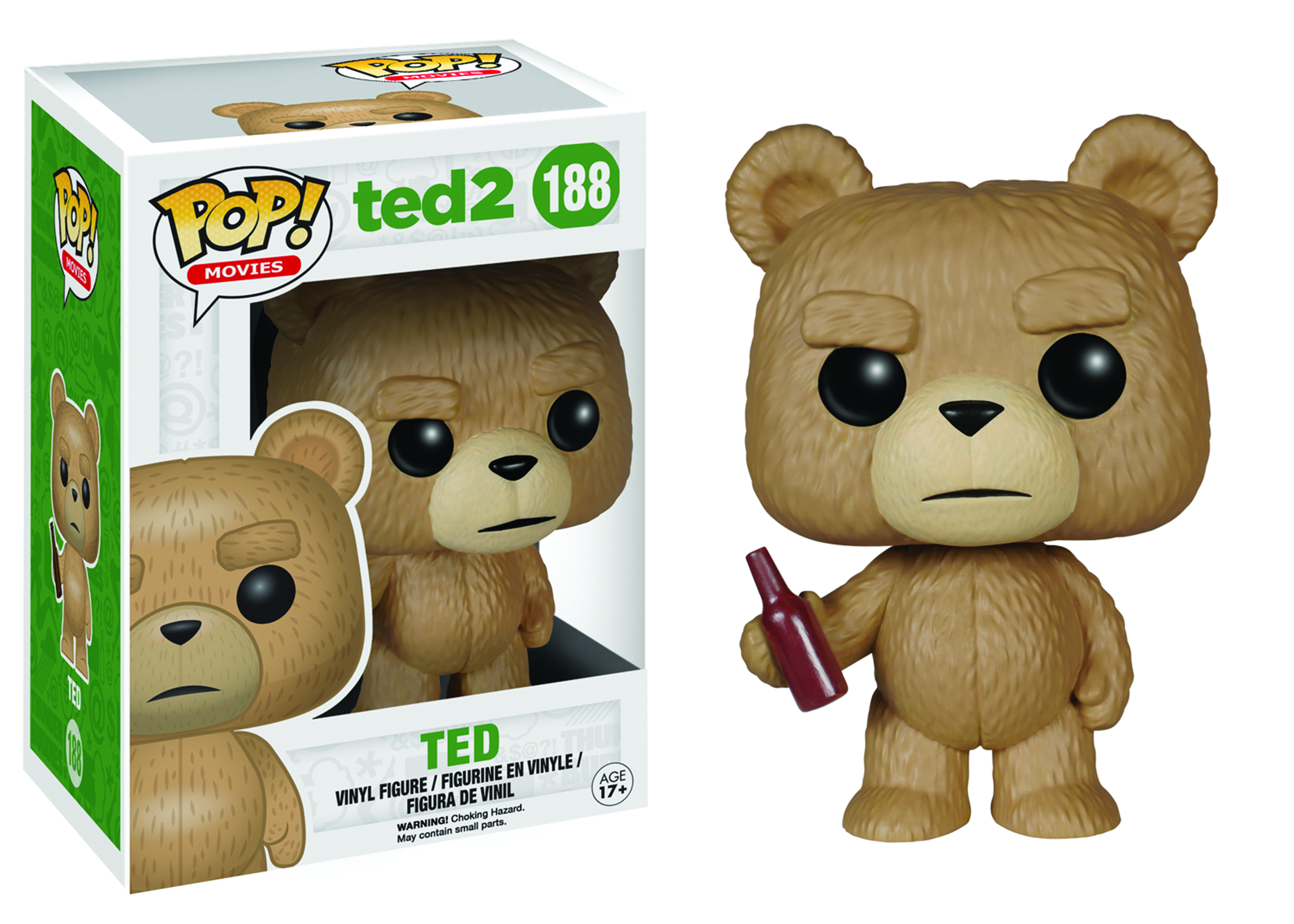 POP TED 2 TED W/BEER VINYL FIG