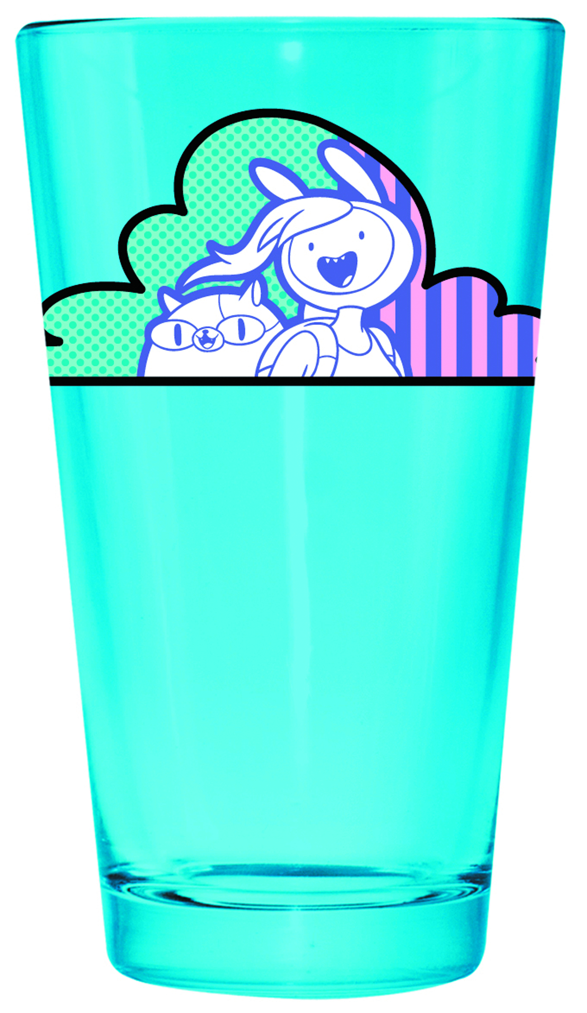 ADVENTURE TIME JAKE FIONNA PINT GLASS