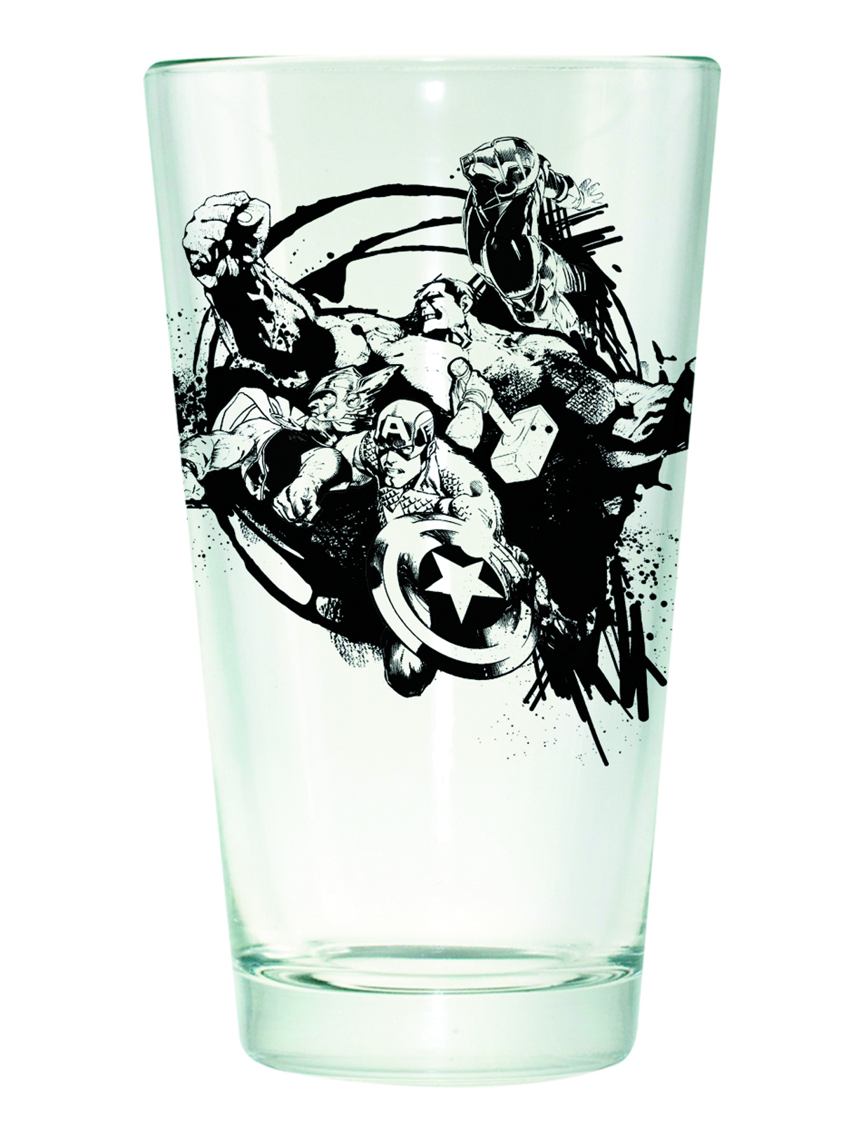 AVENGERS CIRCLE PINT GLASS