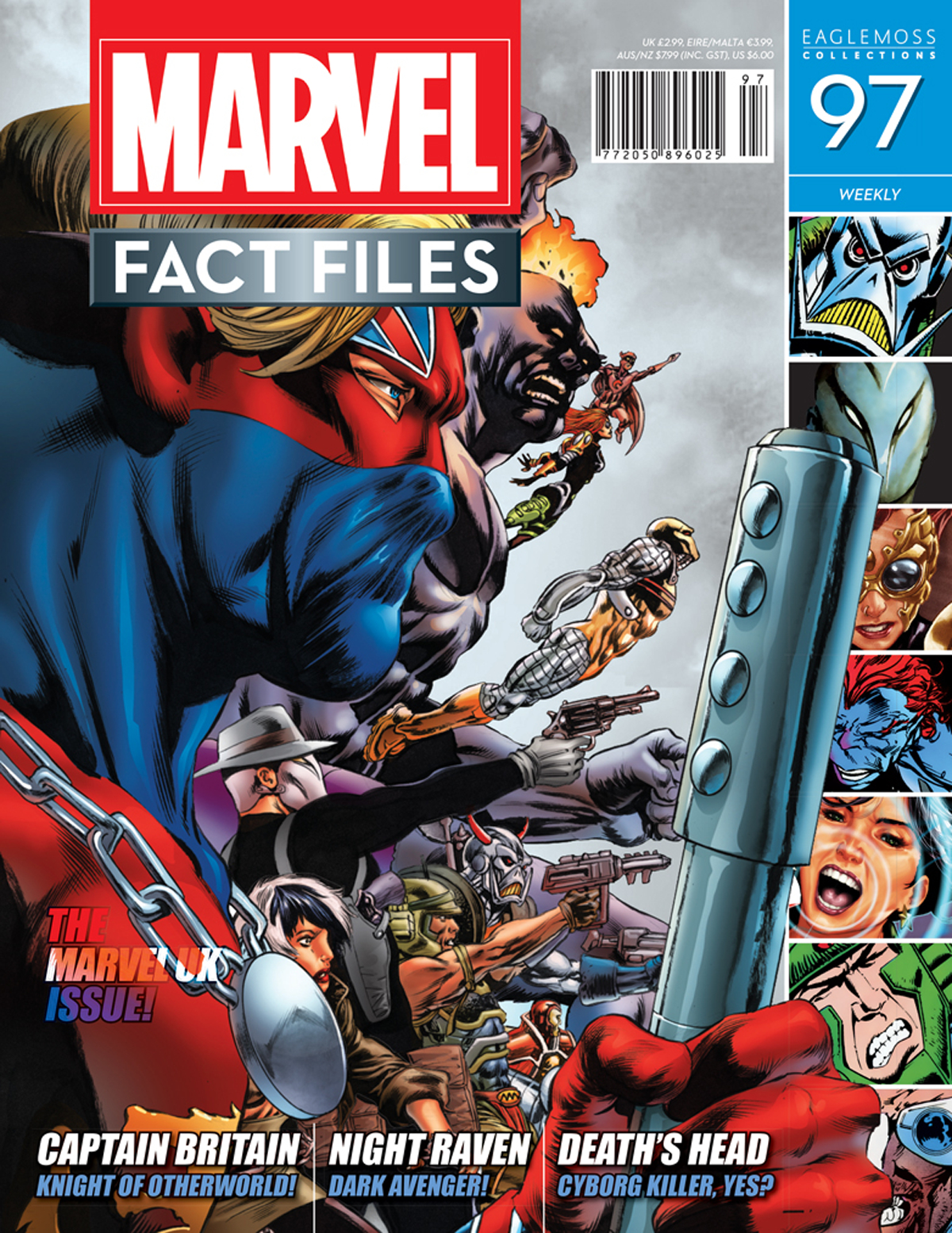 MARVEL FACT FILES #97 CAPTAIN BRITAIN COVER