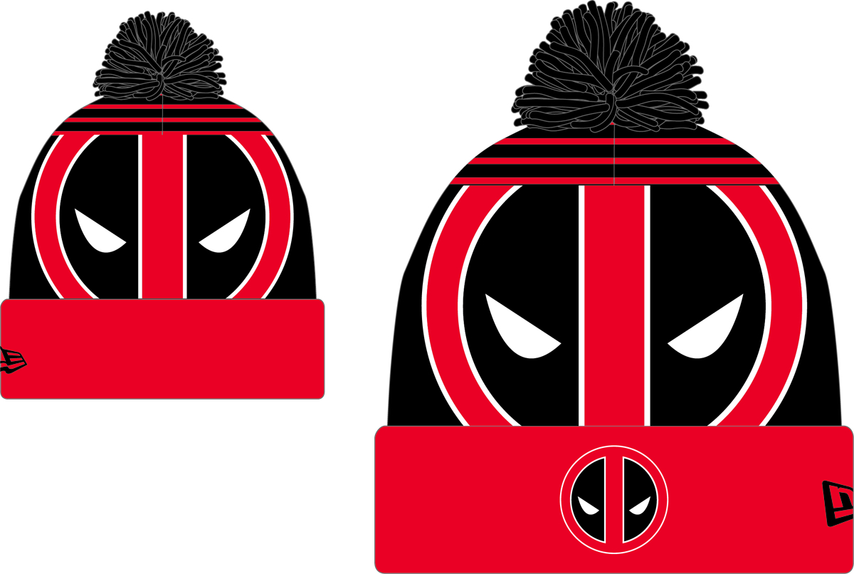 MARVEL HEROES DEADPOOL LOGO WHIZ KNIT CAP