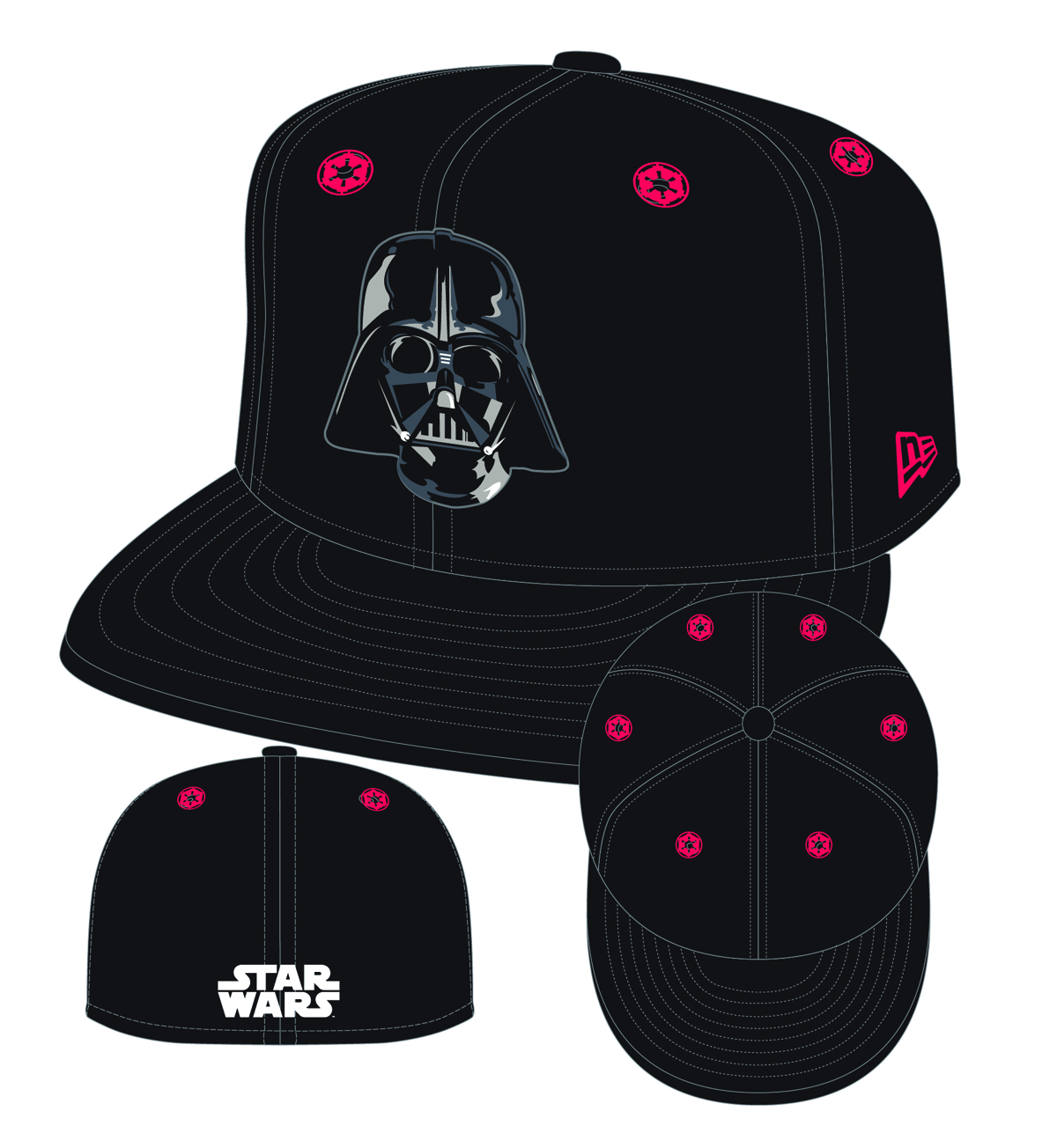 STAR WARS DARTH VADER 5950 STARGAZER FITTED CAP SZ 7 3/8
