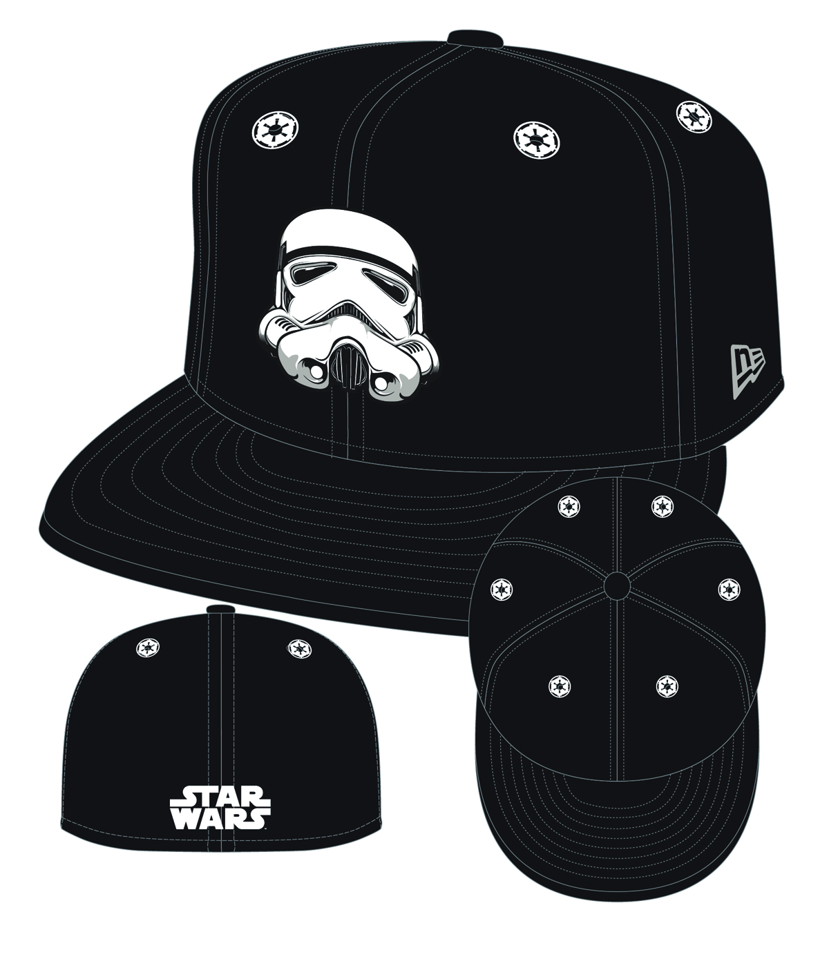 STAR WARS TROOPER 5950 STARGAZER FITTED CAP SZ 7 1/8