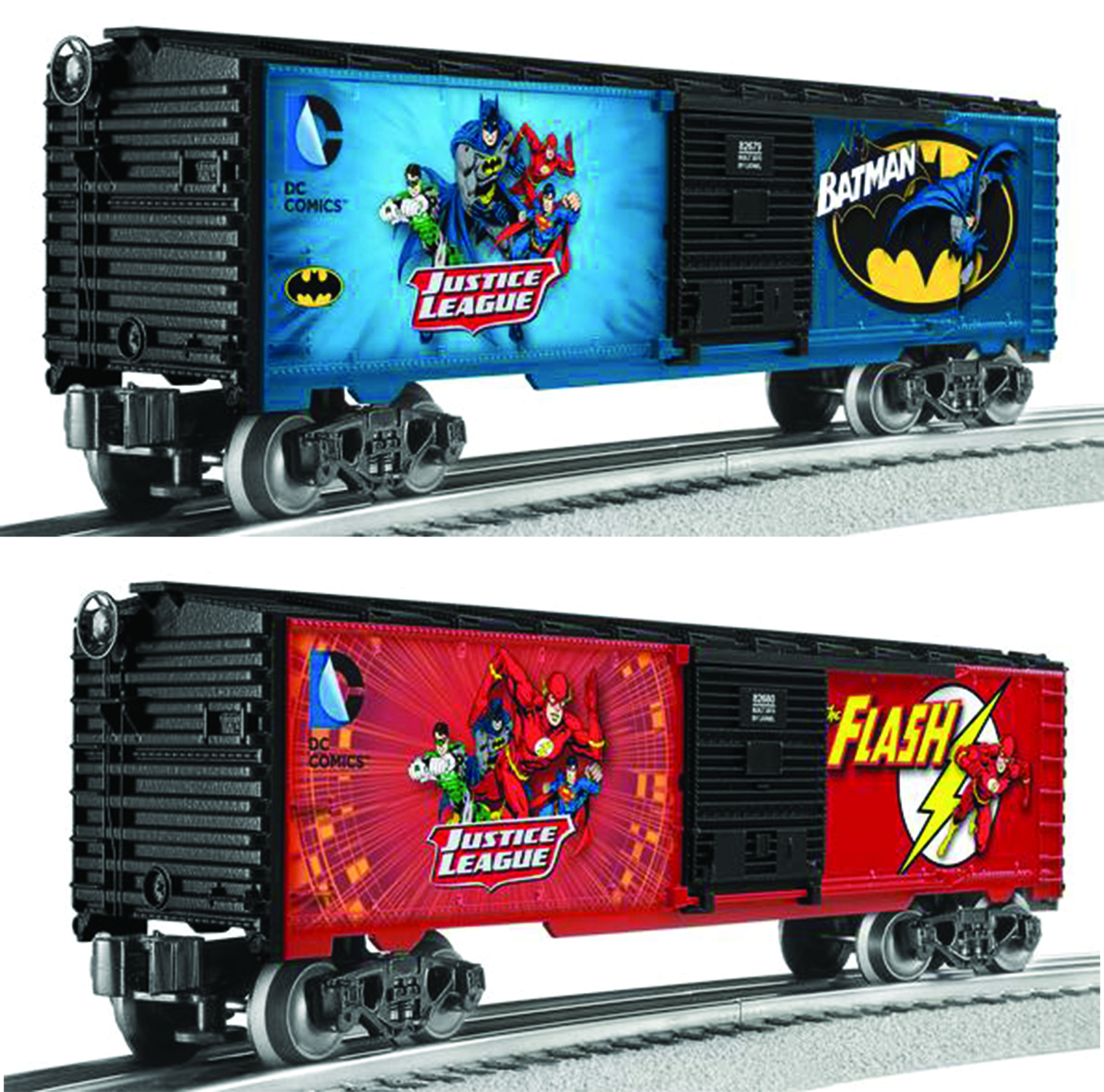 LIONEL DC BATMAN/FLASH M7 SUBWAY CAR 2PK