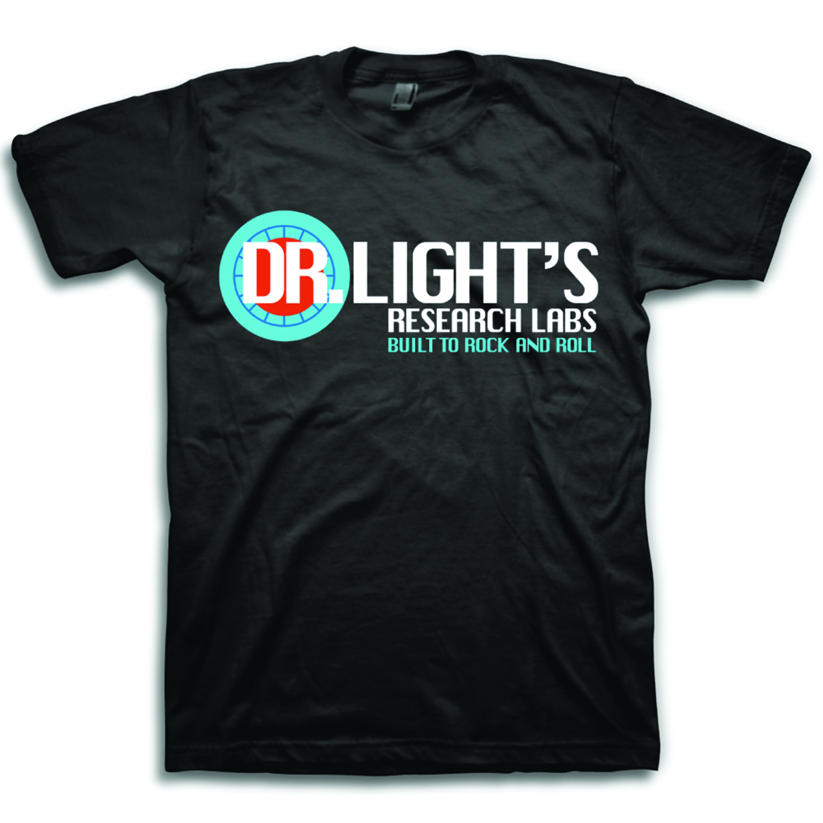 MEGA MAN DR LIGHTS RESEARCH LAB PX BLK T/S SM