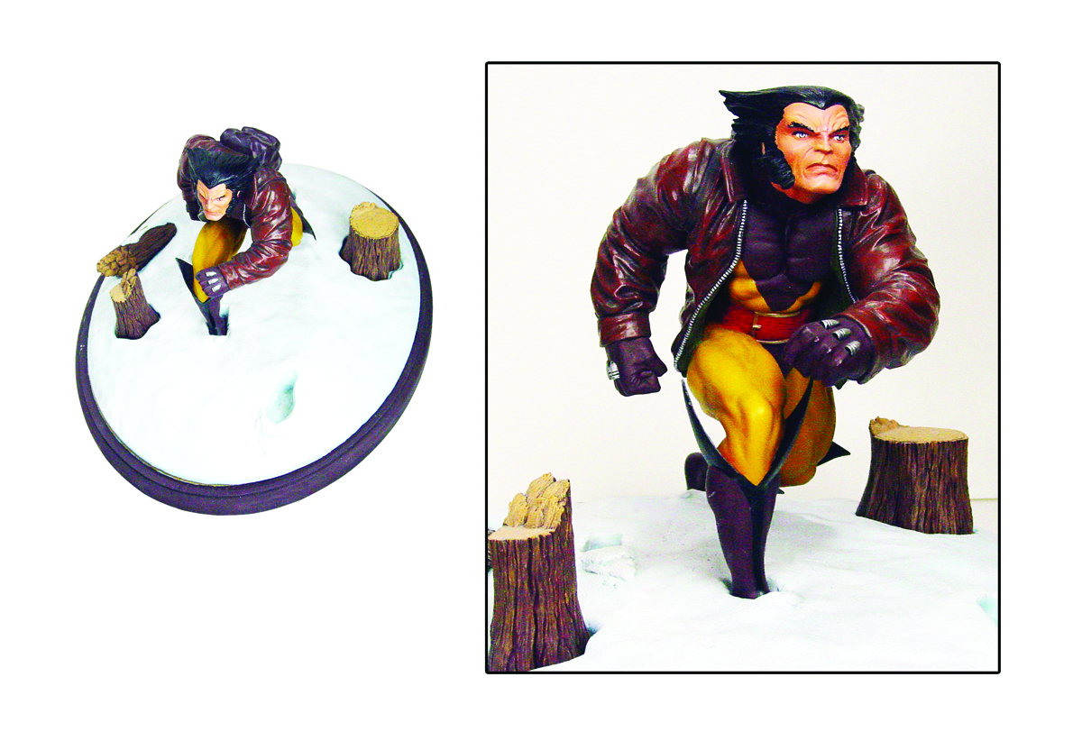 MARVEL PREM COLL WOLVERINE IN SNOW STATUE