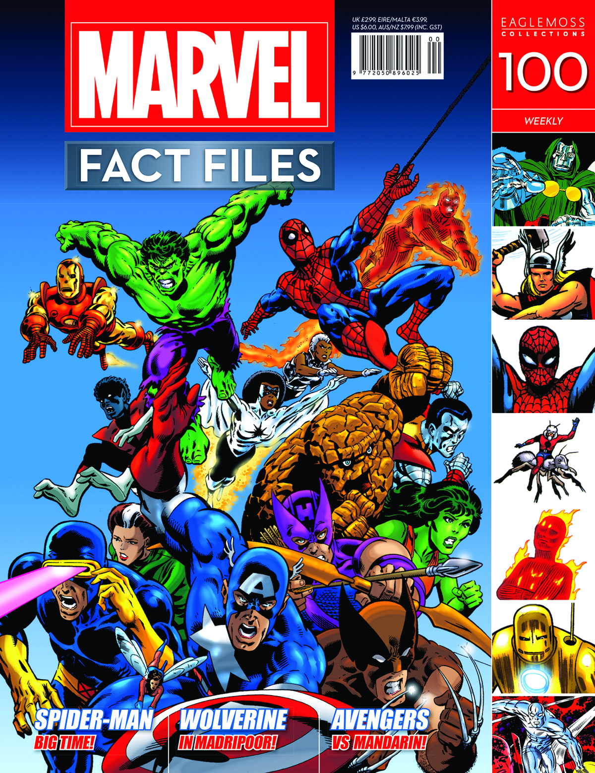 MARVEL FACT FILES #100 SUPERHEROES COVER