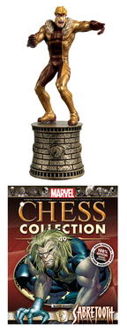 MARVEL CHESS FIG COLL MAG #49 SABRETOOTH BLACK KNIGHT
