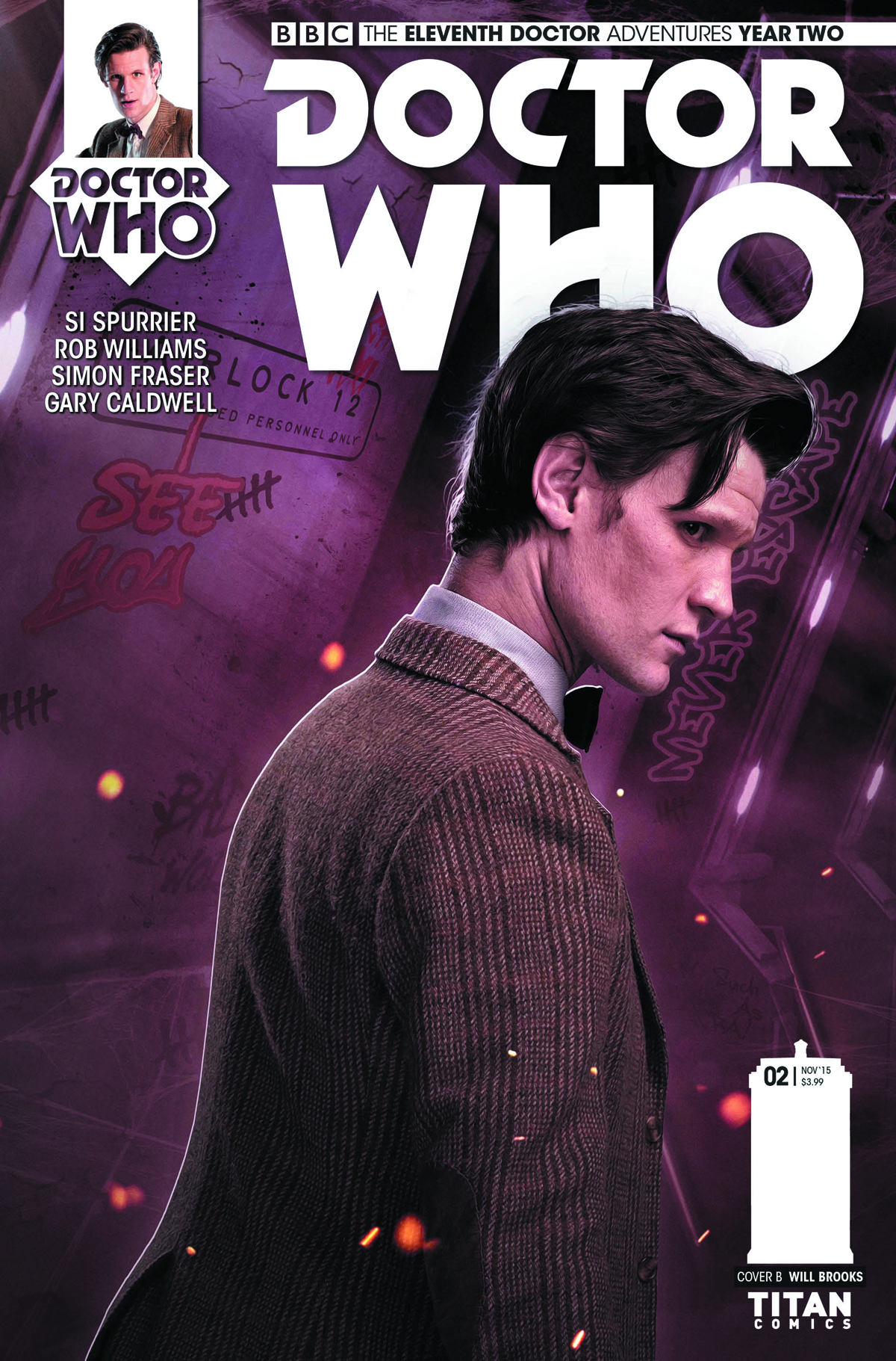 DOCTOR WHO 11TH YEAR TWO #3 SUBSCRIPTION PHOTO