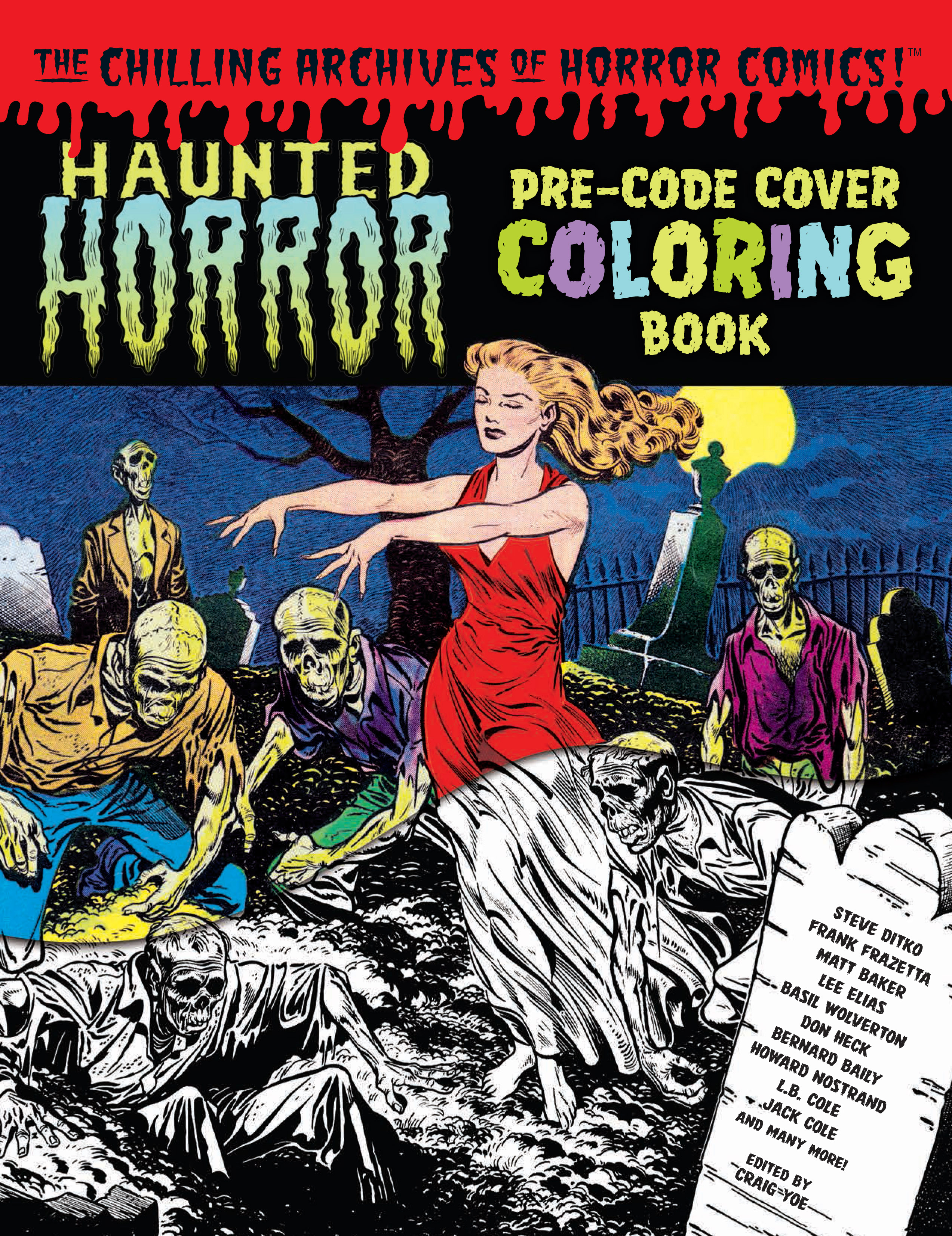 HAUNTED HORROR PRE-CODE COVER COLORING BOOK TP VOL 01