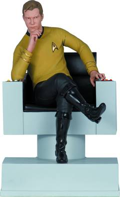 ST TOS CAPTAIN KIRK PX COLL STATUE BOOKEND