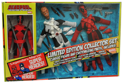 MARVEL DEADPOOL 8IN RETRO AF SET