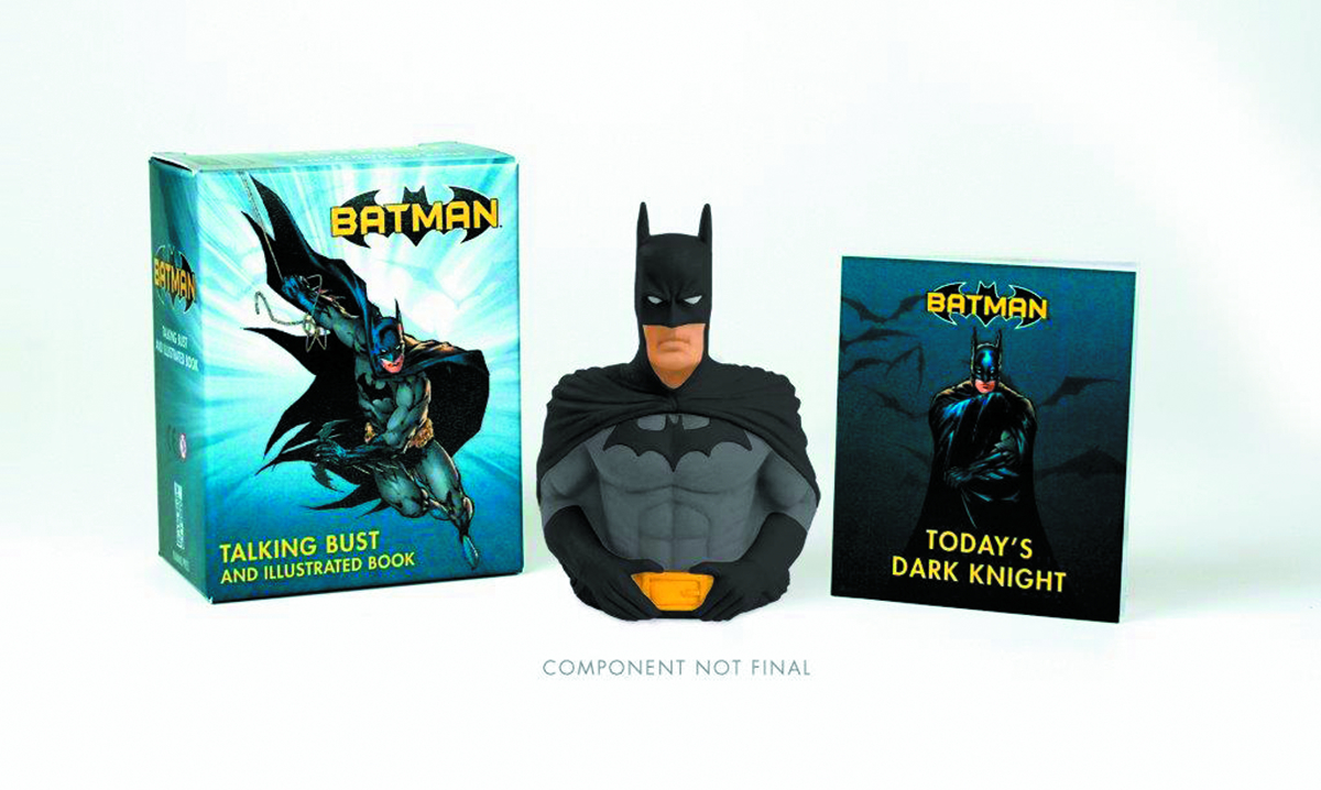 BATMAN TALKING BUST & ILLUS BOOK KIT