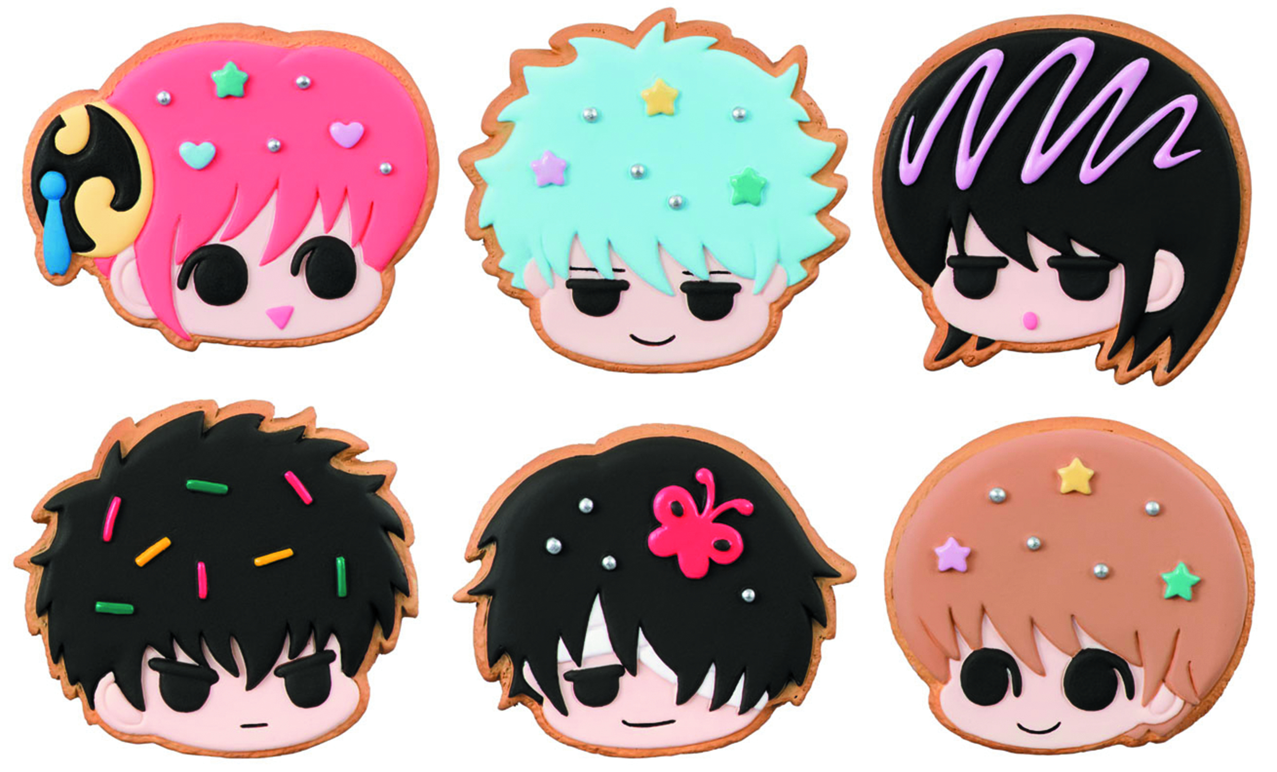 GINTAMA PATISSERIE COOKIE SHOP CHARM 6PC DS