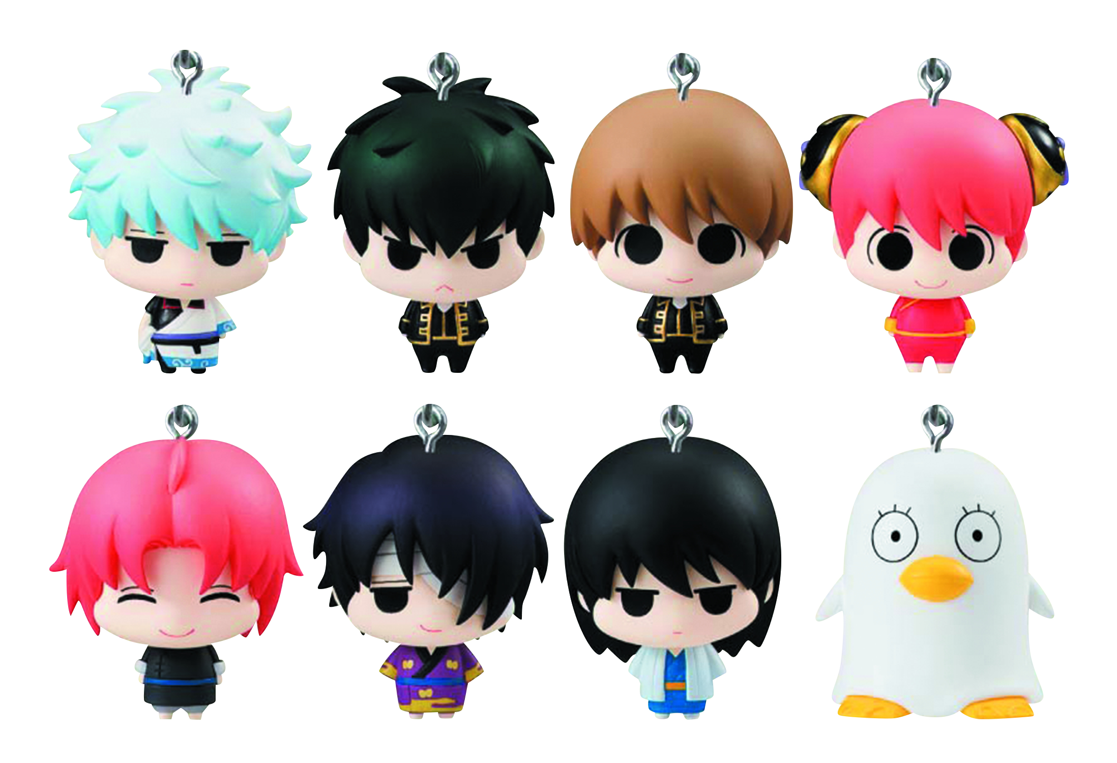 GINTAMA CHARA FORTUNE AMULET 8PC DS
