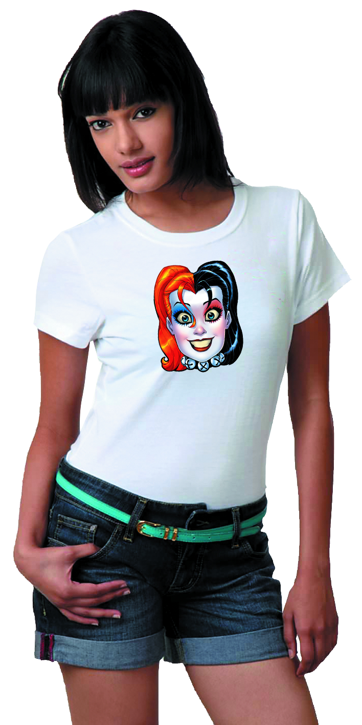 HARLEY QUINN MASK BY CONNER WOMENS T/S SM