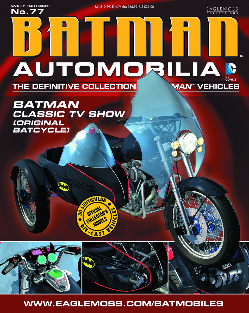 DC BATMAN AUTO FIG MAG #77 CLASSIC TV ORIGINAL BATCYCLE
