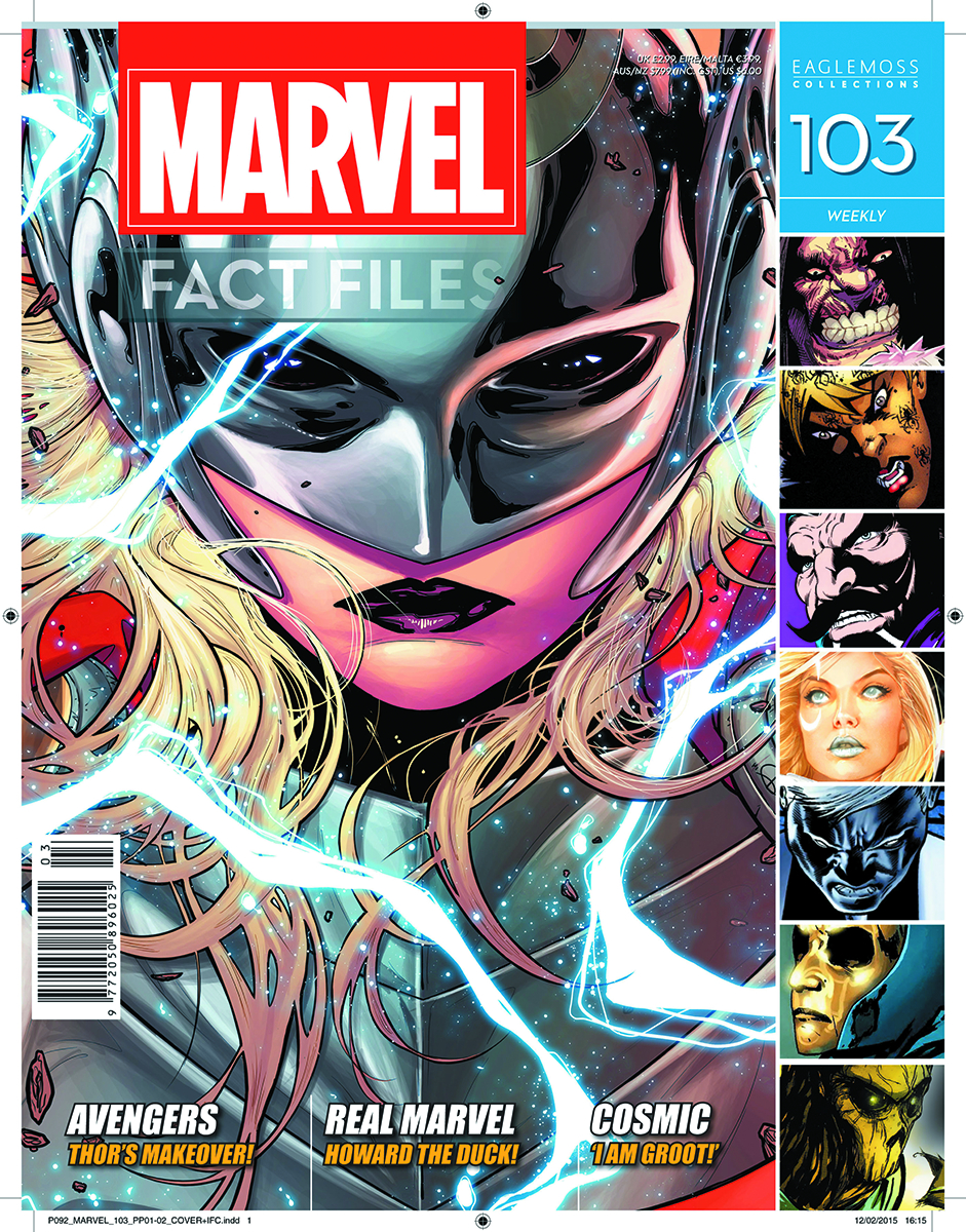 MARVEL FACT FILES #103 FEMALE THOR COVER