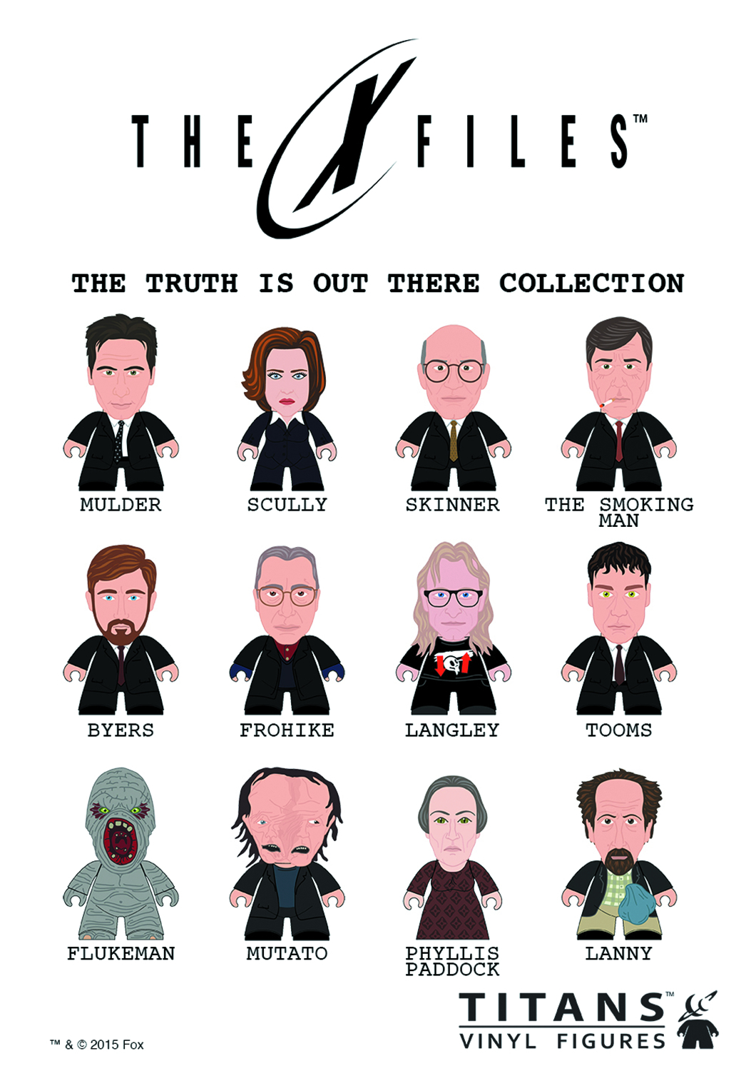 X-FILES TTIOT COLLECTION TITANS MINI FIG 20PC BMB DS