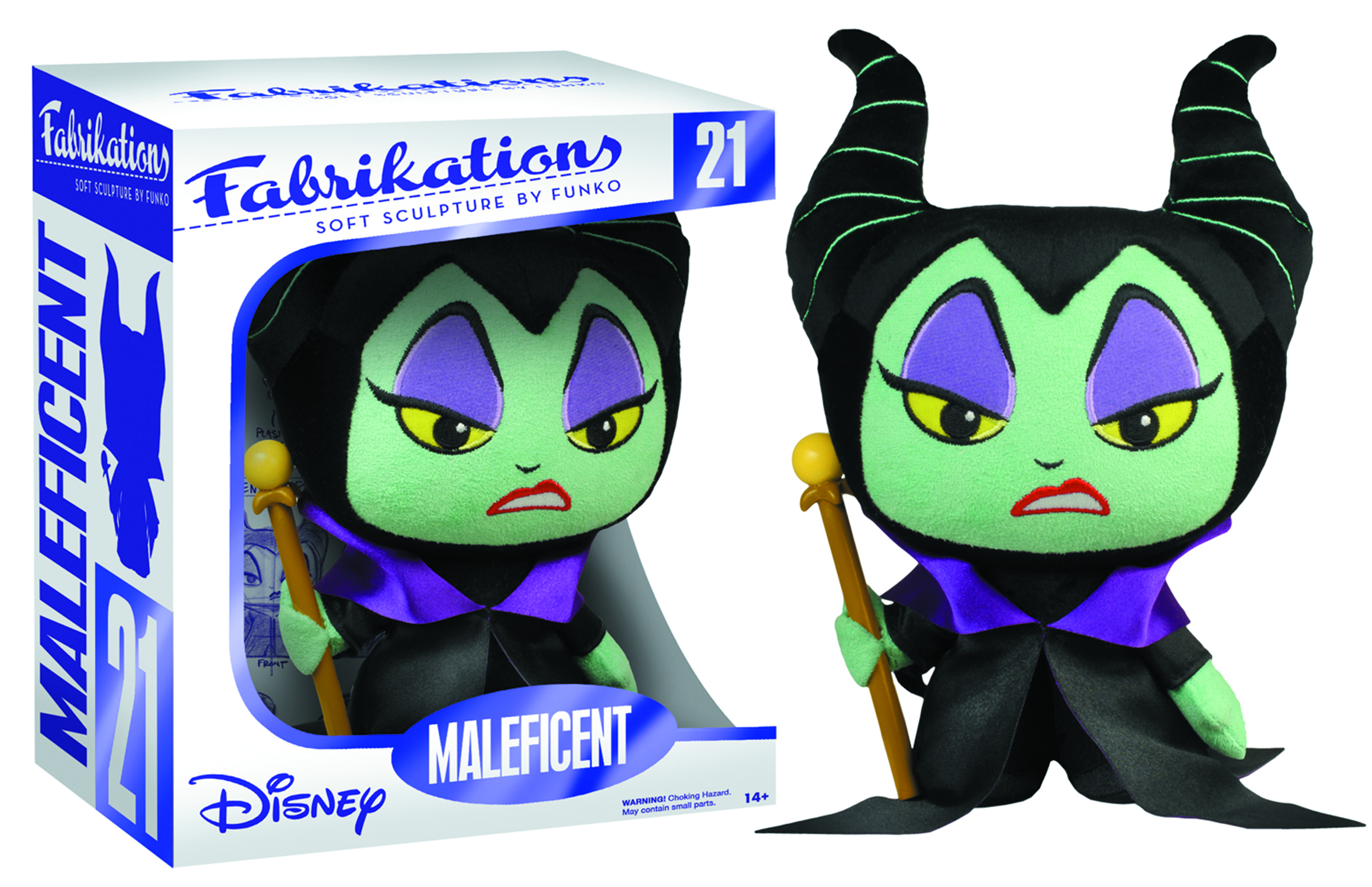 FABRIKATIONS DISNEY MALEFICENT SOFT SCULPT PLUSH FIG