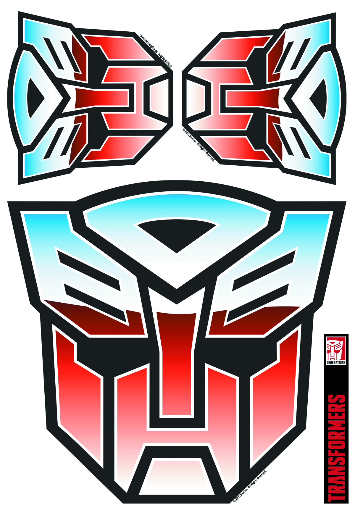 TRANSFORMERS AUTOBOT FULL COLOR GRAPHICS SET