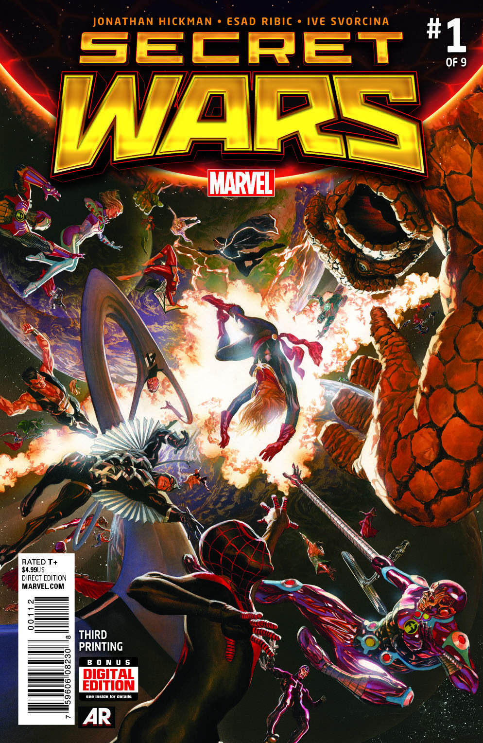SECRET WARS #1 (OF 9) ROSS 3RD PTG VAR