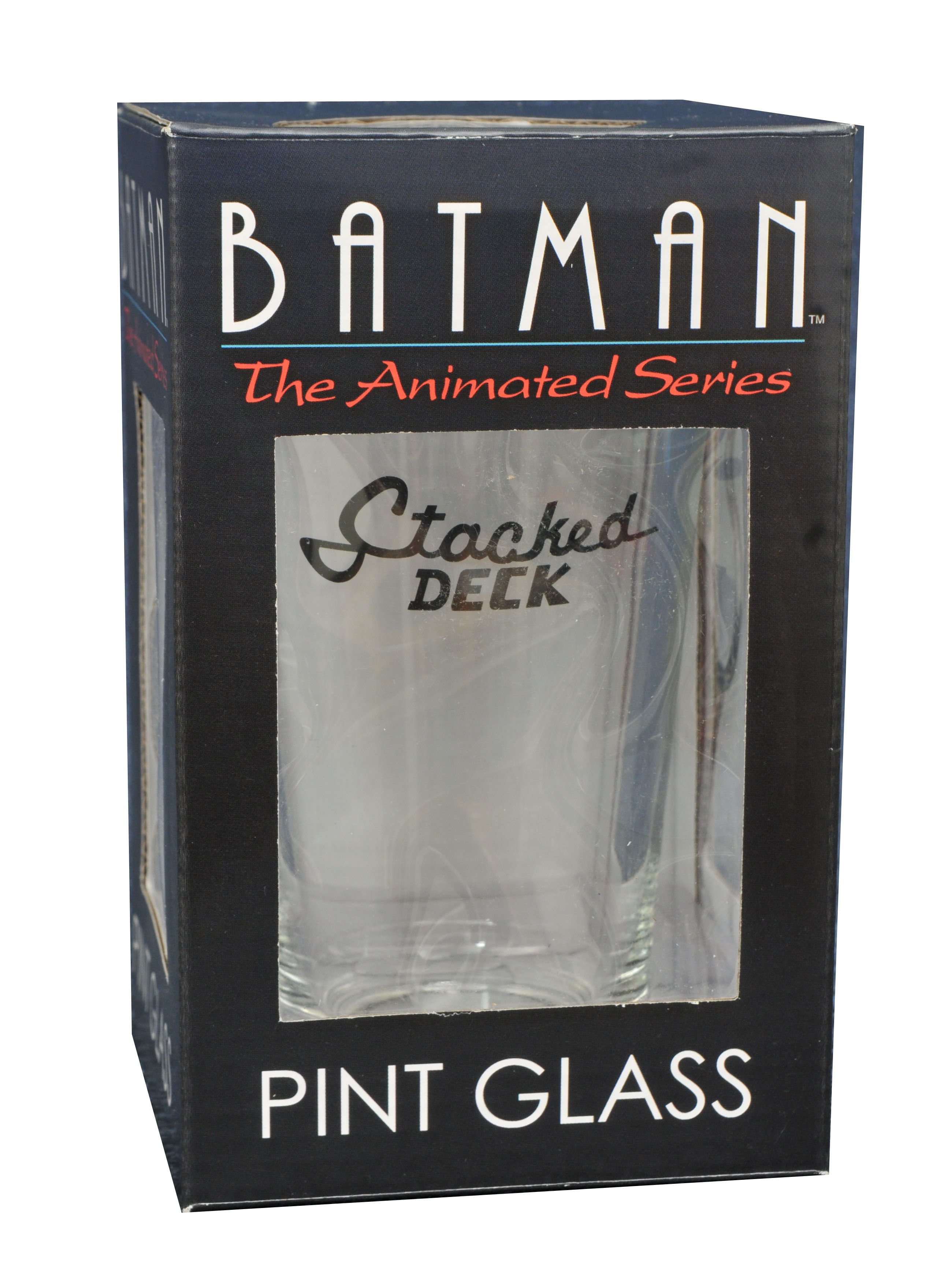 BATMAN TAS SER STACKED DECK PINT GLASS