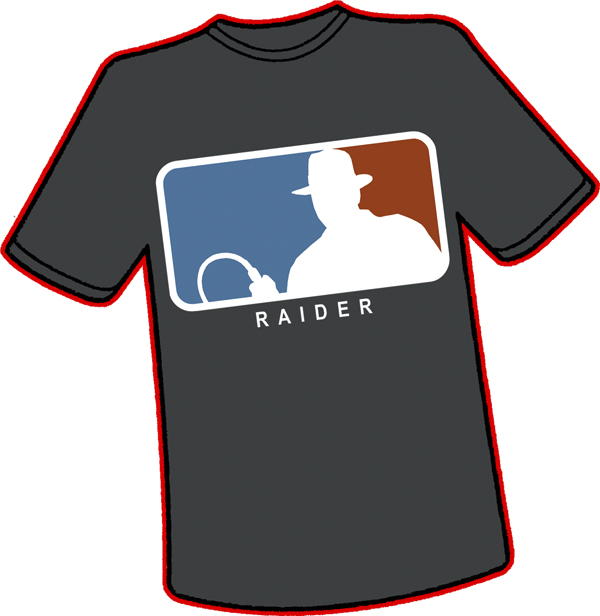 MAJOR LEAGUE RAIDER T-SHIRT SM