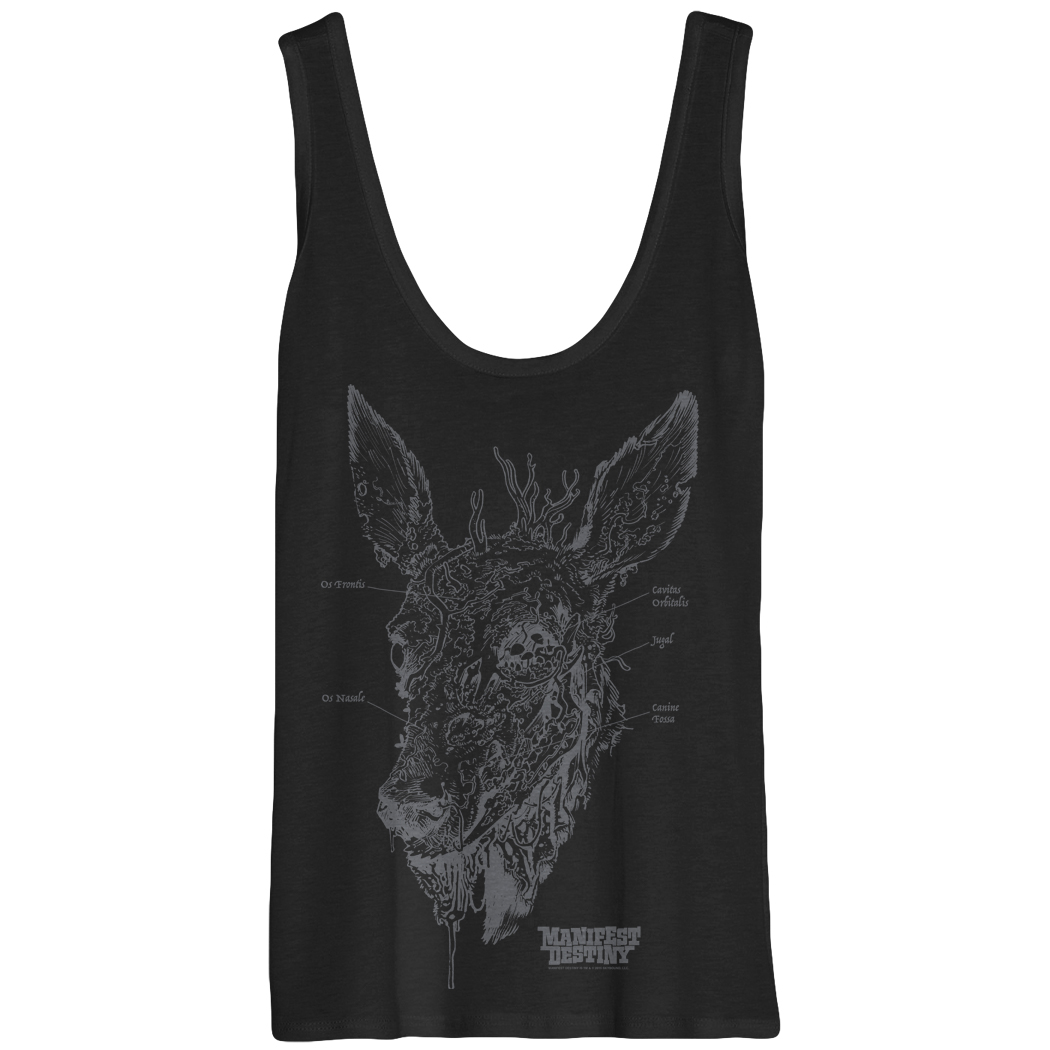 MANIFEST DESTINY ANATOMY WOMANS MED TANK TOP