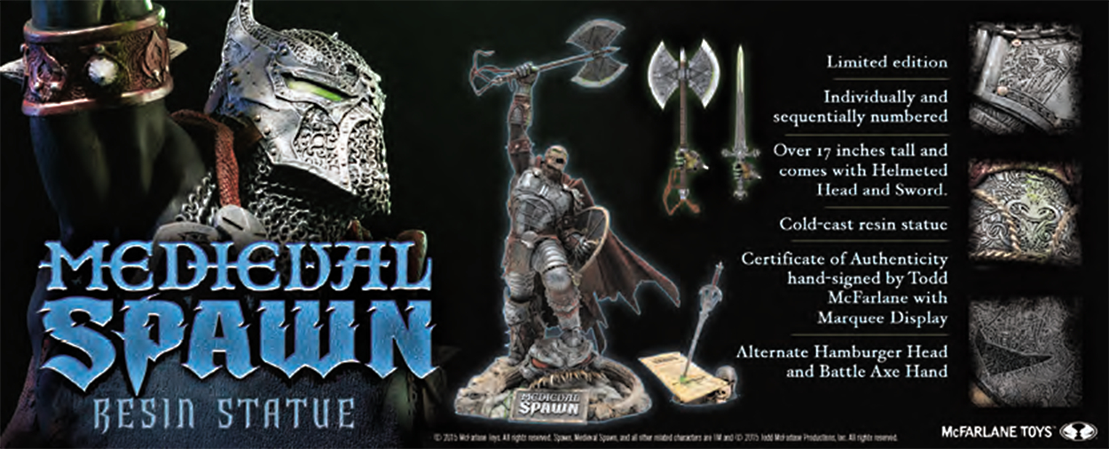 MEDIEVAL SPAWN RESIN STATUE