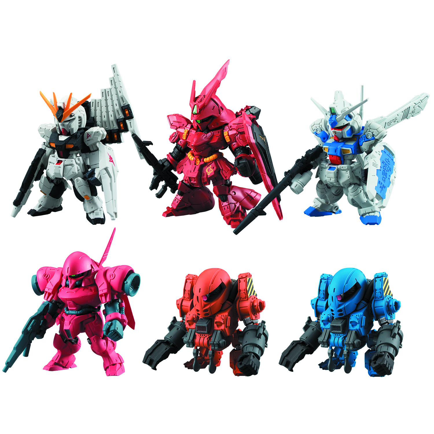FW GUNDAM CONVERGE #1 TRAD FIG 10PC ASST