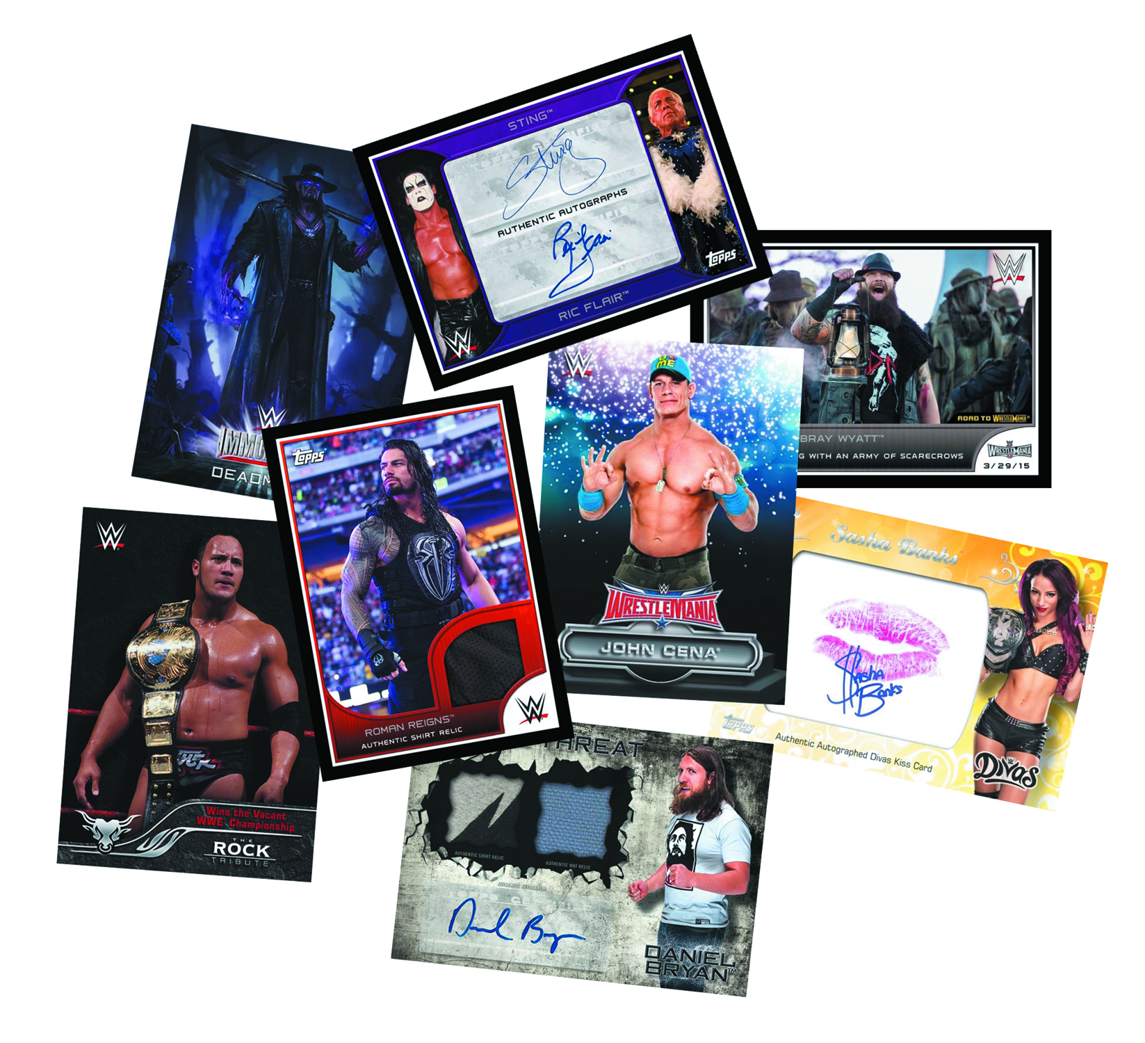 TOPPS 2016 WWE ROAD TO WRESTLEMANIA T/C BOX