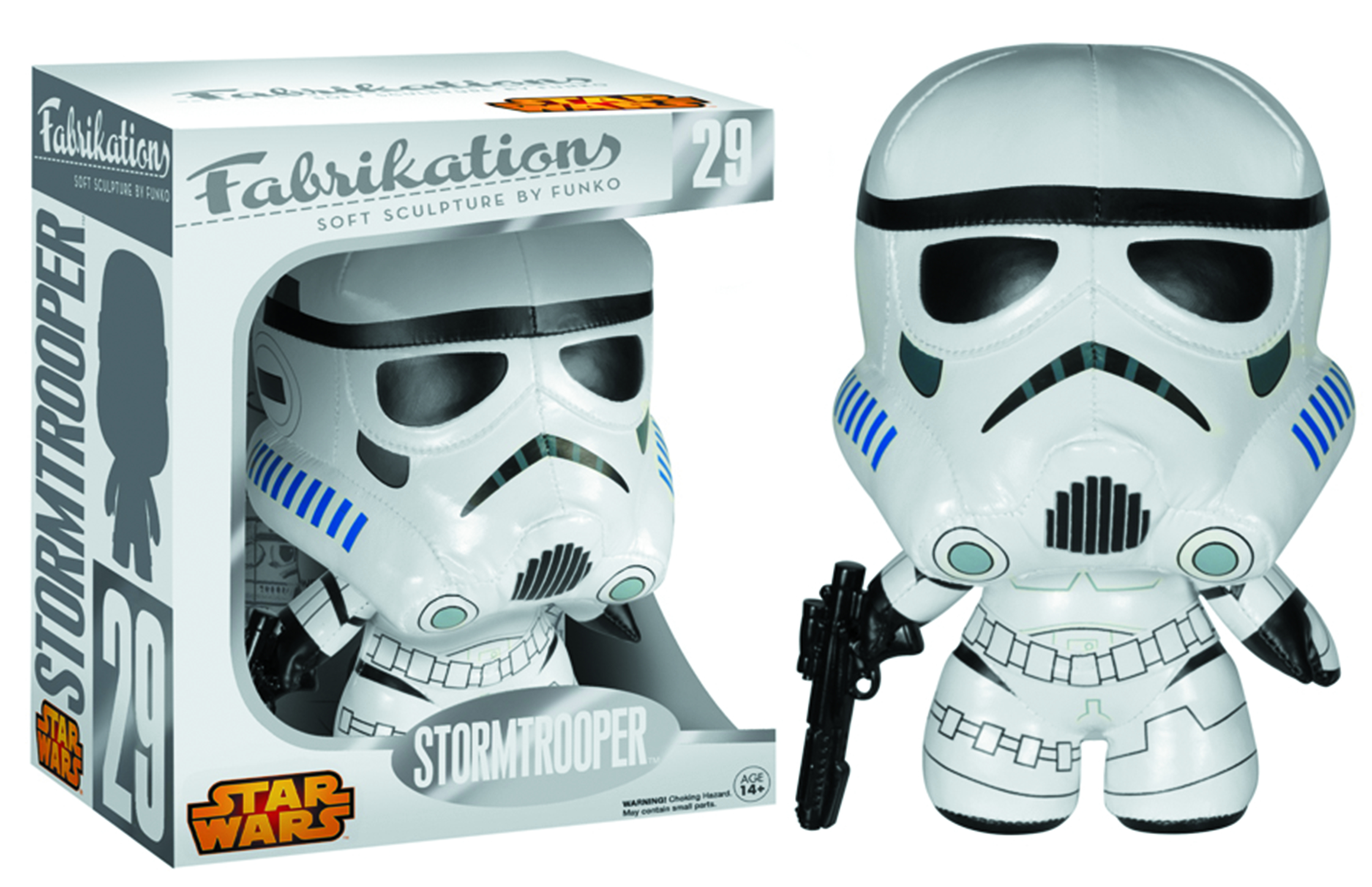 FABRIKATIONS STAR WARS STORMTROOPER SOFT SCULPT PLUSH FIG