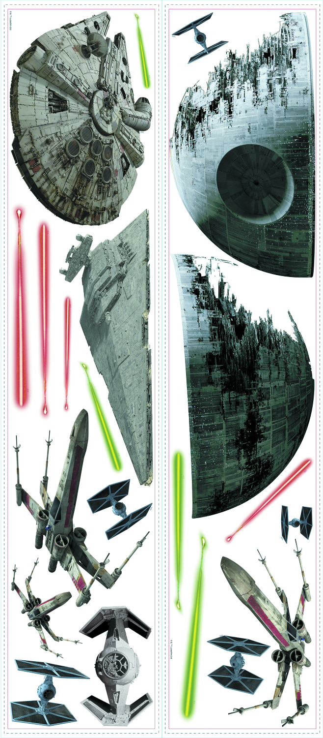 STAR WARS CLASSIC SPACE SHIPS WALL DECAL