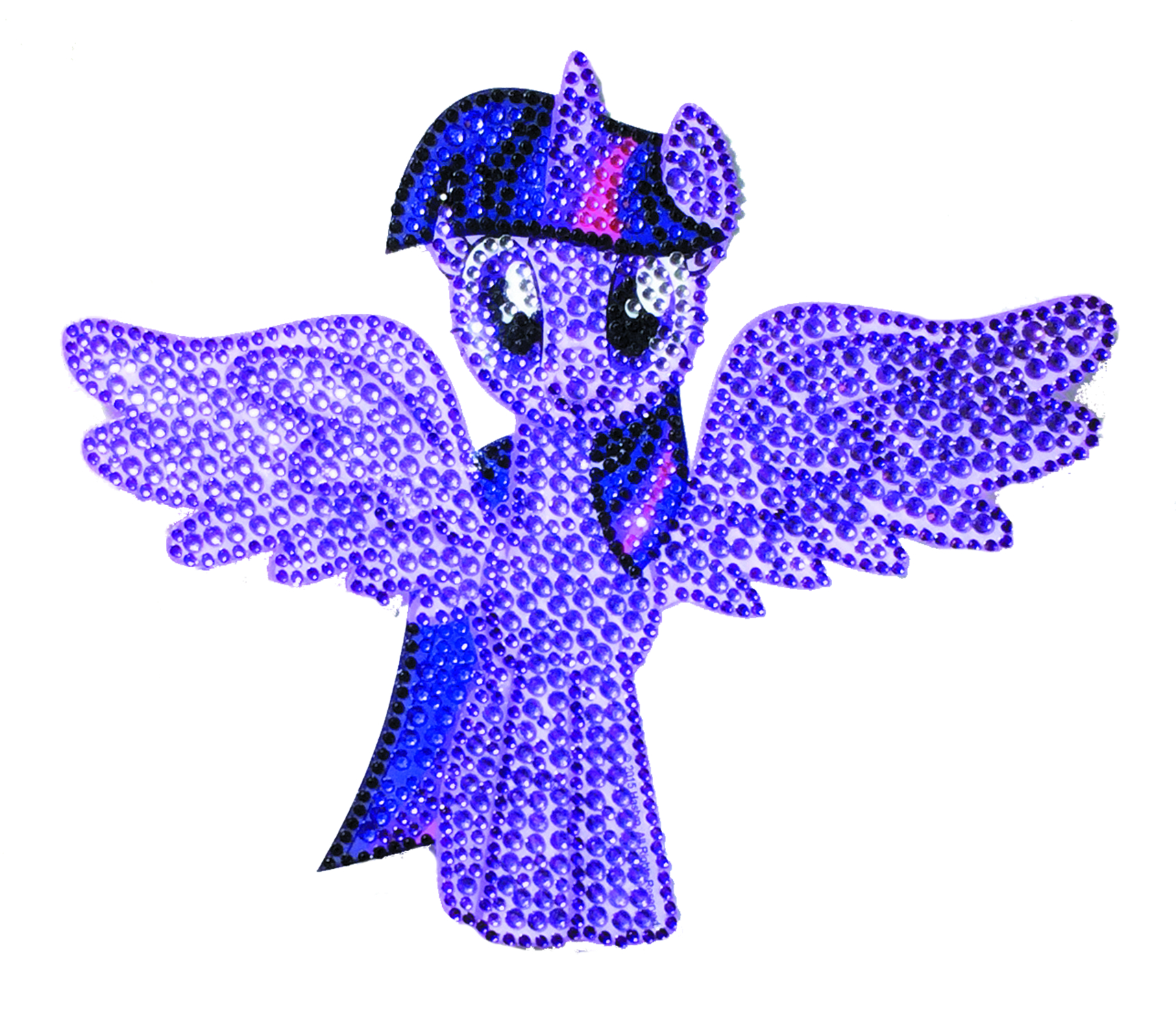 MLP CRYSTAL STUDDED TWILIGHT SPARKLE LARGE DECAL