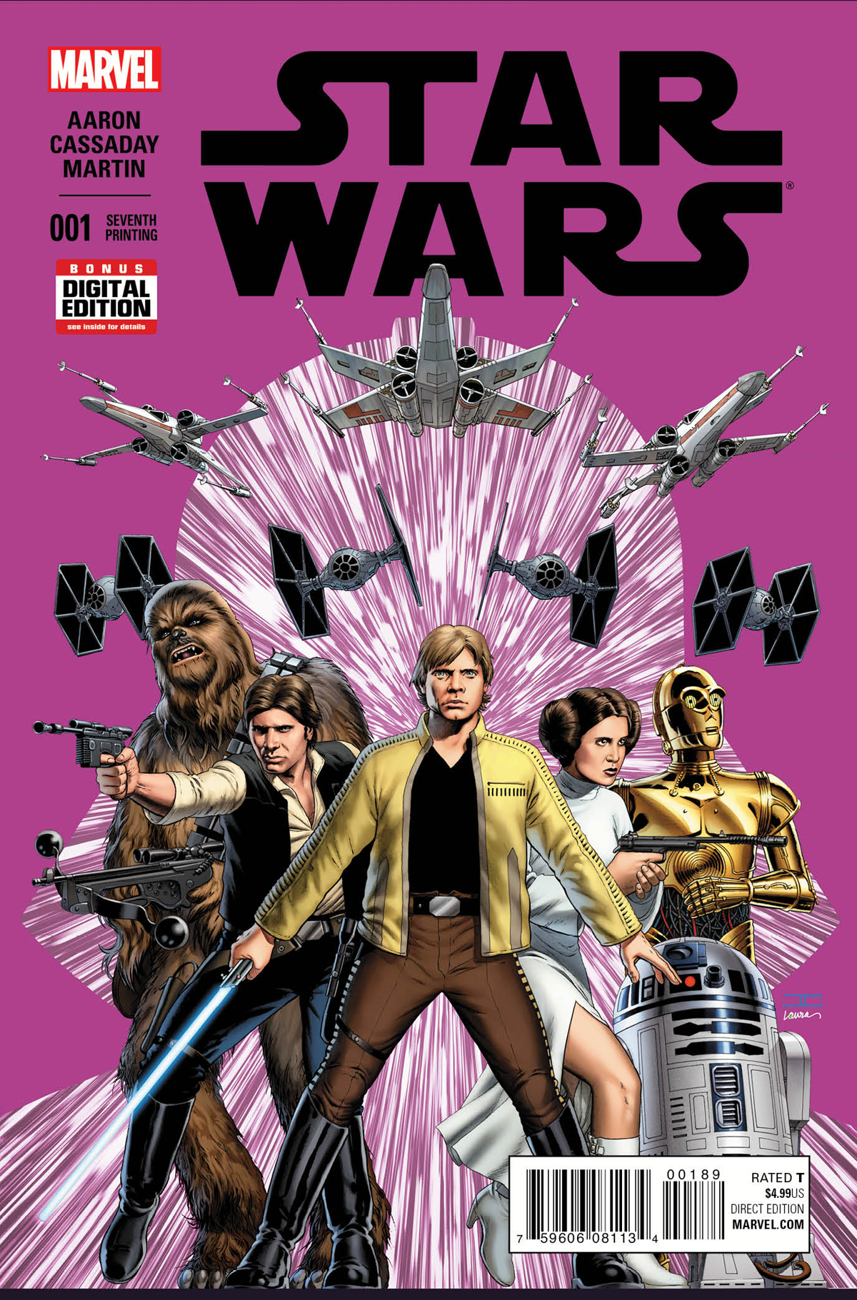 STAR WARS #1 CASSADAY 7TH PTG VAR
