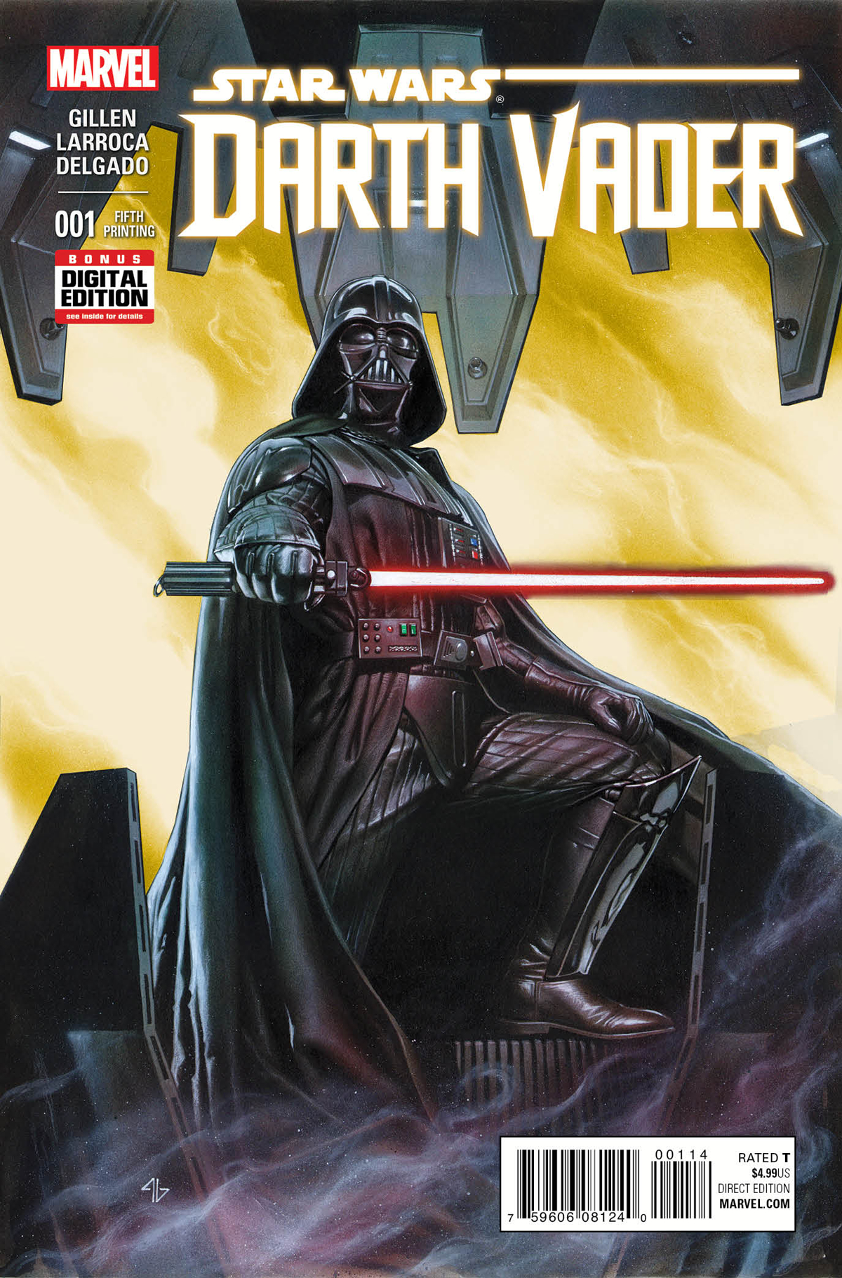 DARTH VADER #1 GRANOV 5TH PTG VAR
