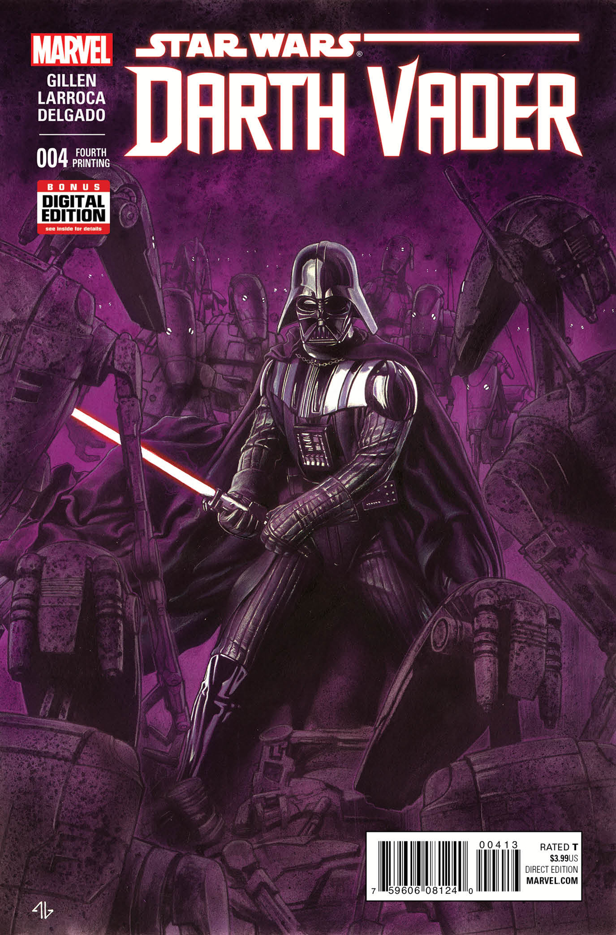 DARTH VADER #4 GRANOV 4TH PTG VAR